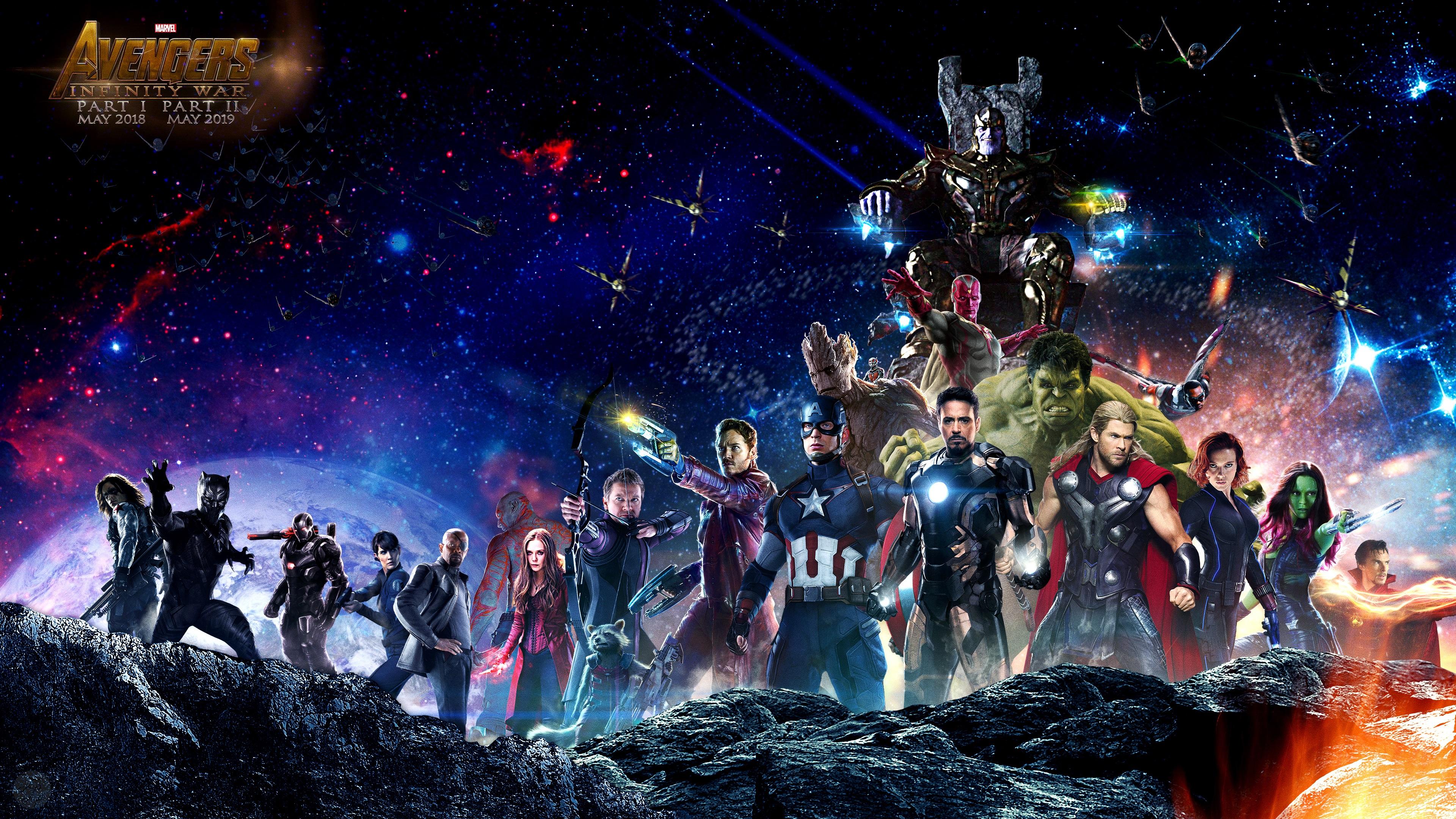 Fonds D écran Avengers 3 Infinity War 2018 3840x2160 Uhd 4k