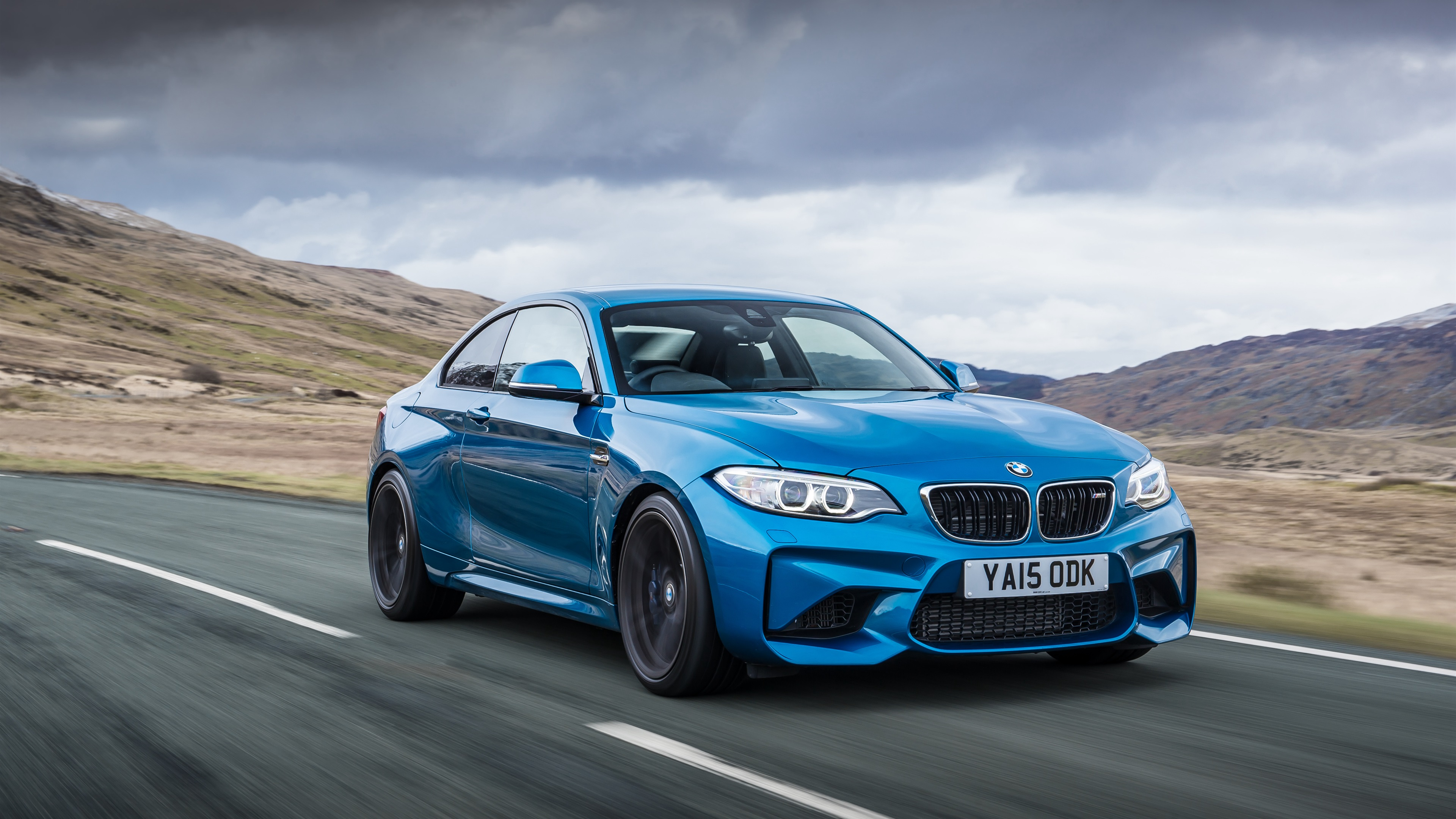 Bmw M2 Coupe F87 Blue Car Speed 1080x1920 Iphone 8 7 6 6s