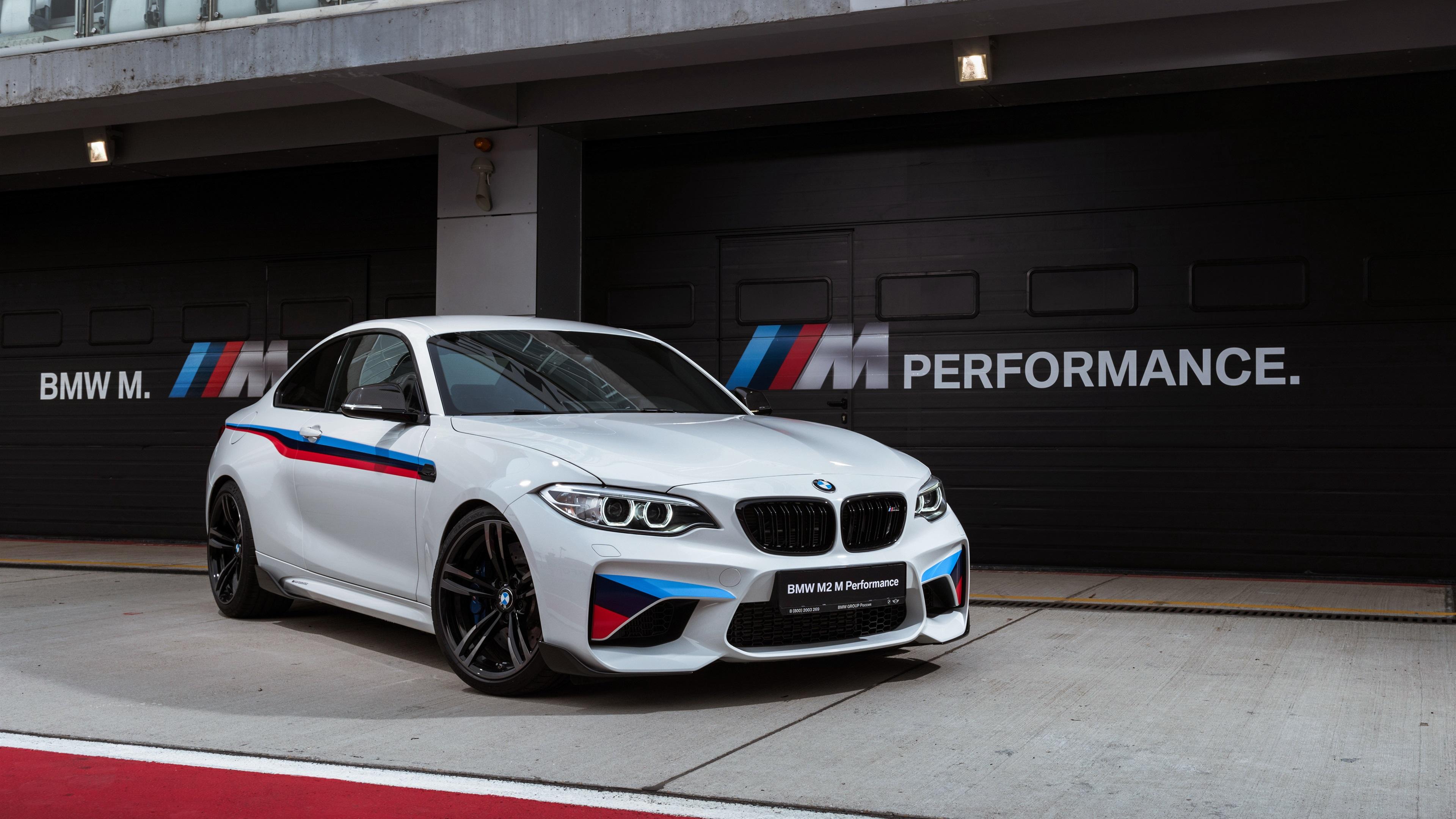 Wallpaper BMW M2 F87 White Coupe 3840x2160 UHD 4K Picture