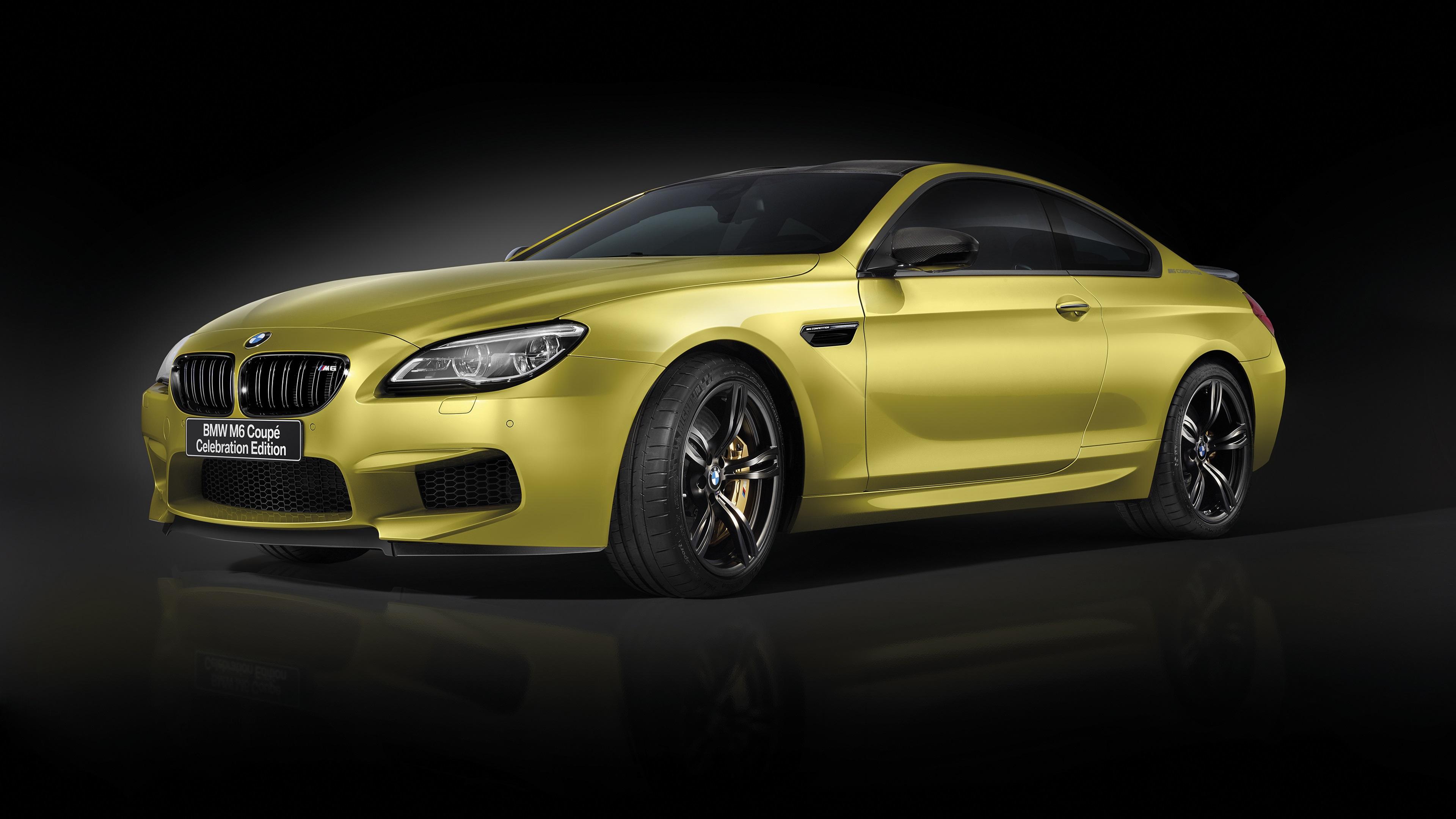 Wallpaper Bmw M6 Coupe Gold Color Car 3840x2160 Uhd 4k