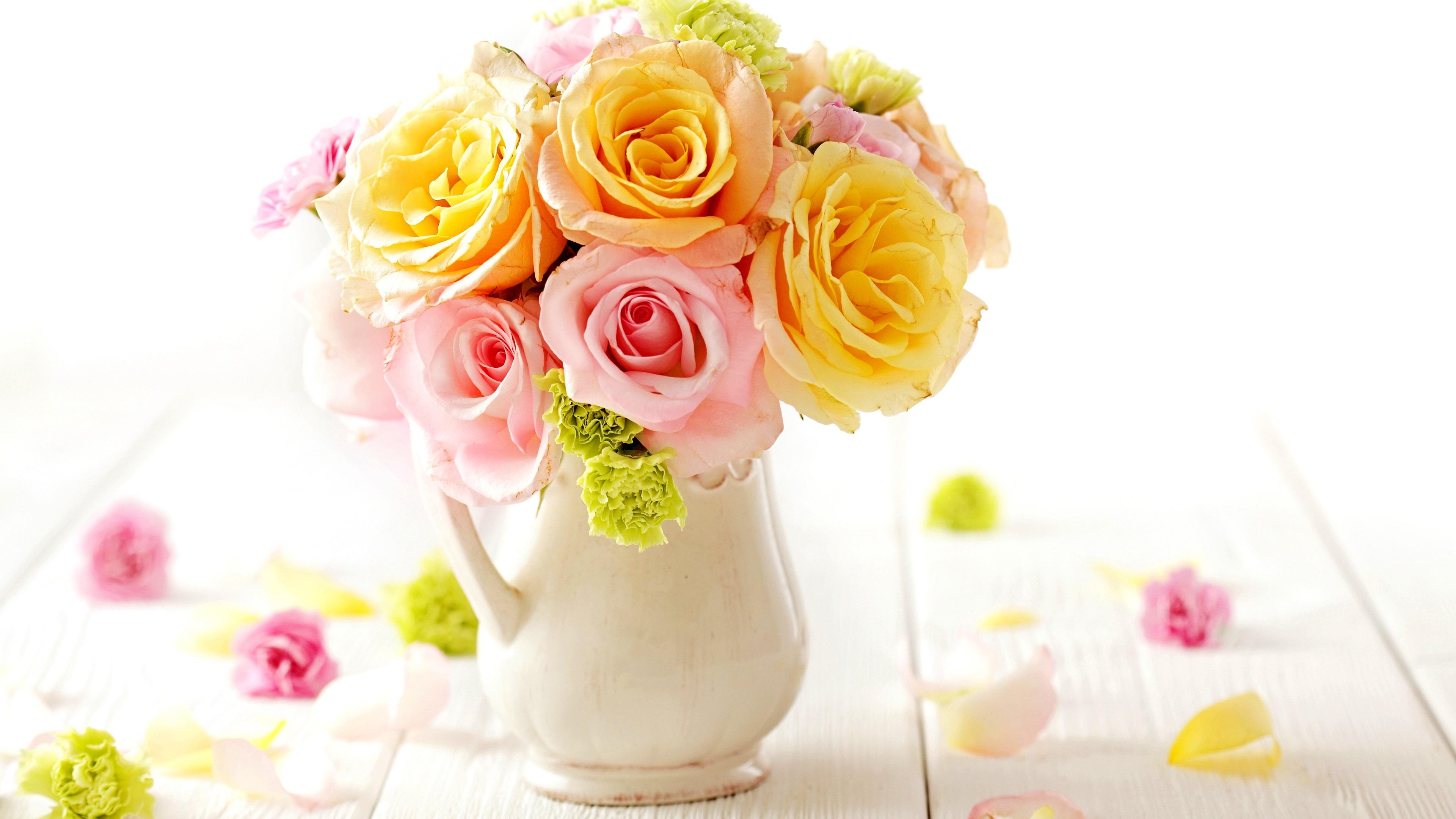 Открытки, открытка с днем рождения ваза