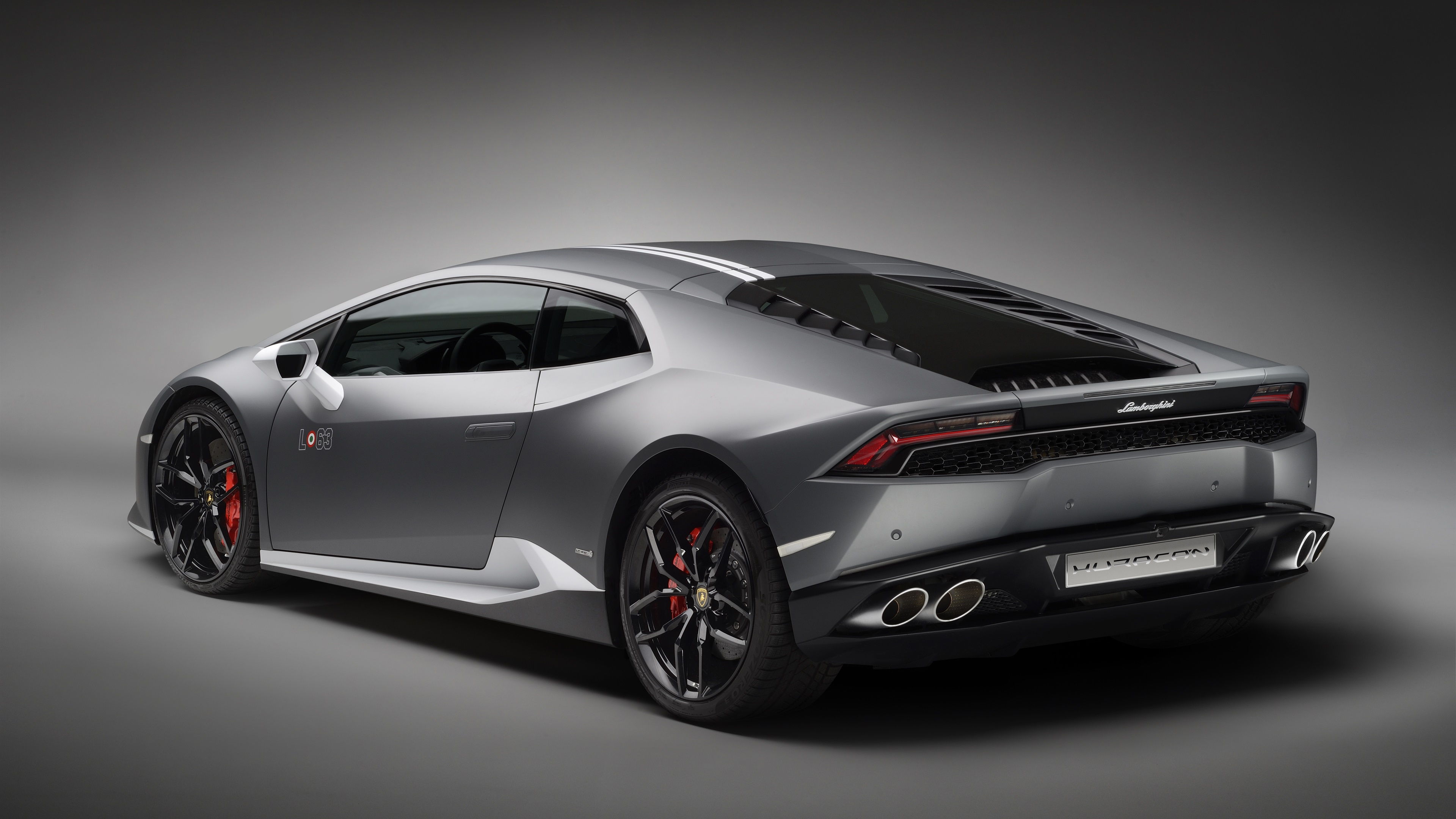 Wallpaper Lamborghini Huracan Lp 610 4 Gray Supercar Rear