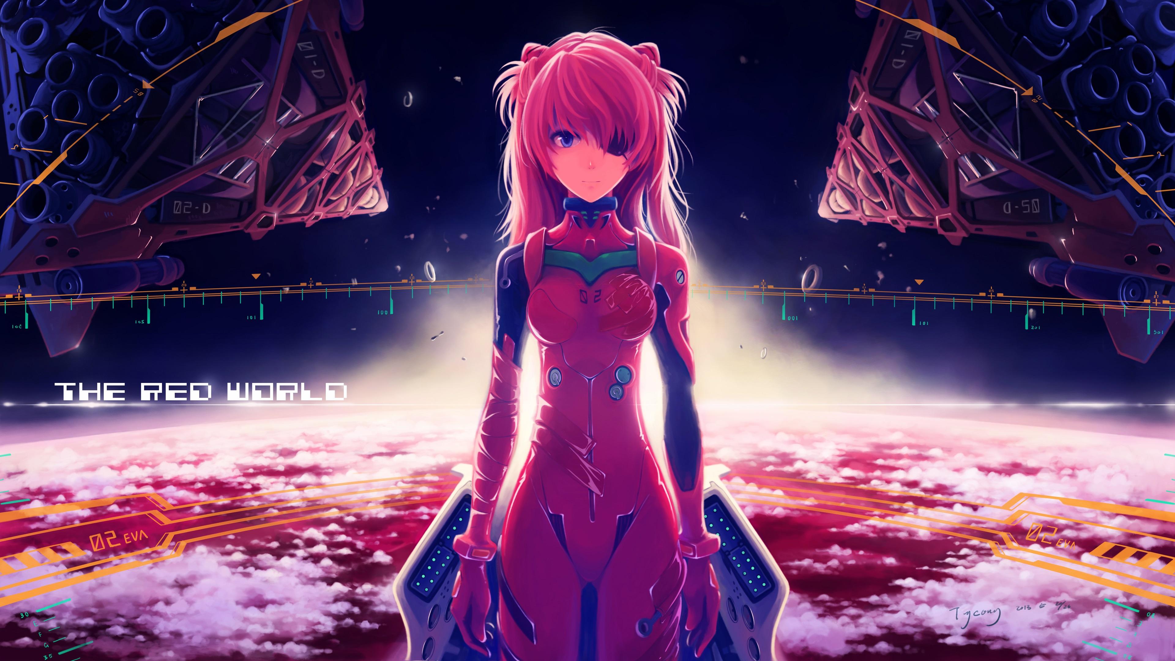 Wallpaper Neon Genesis Evangelion The Red World 3840x2160 Uhd 4k Picture Image