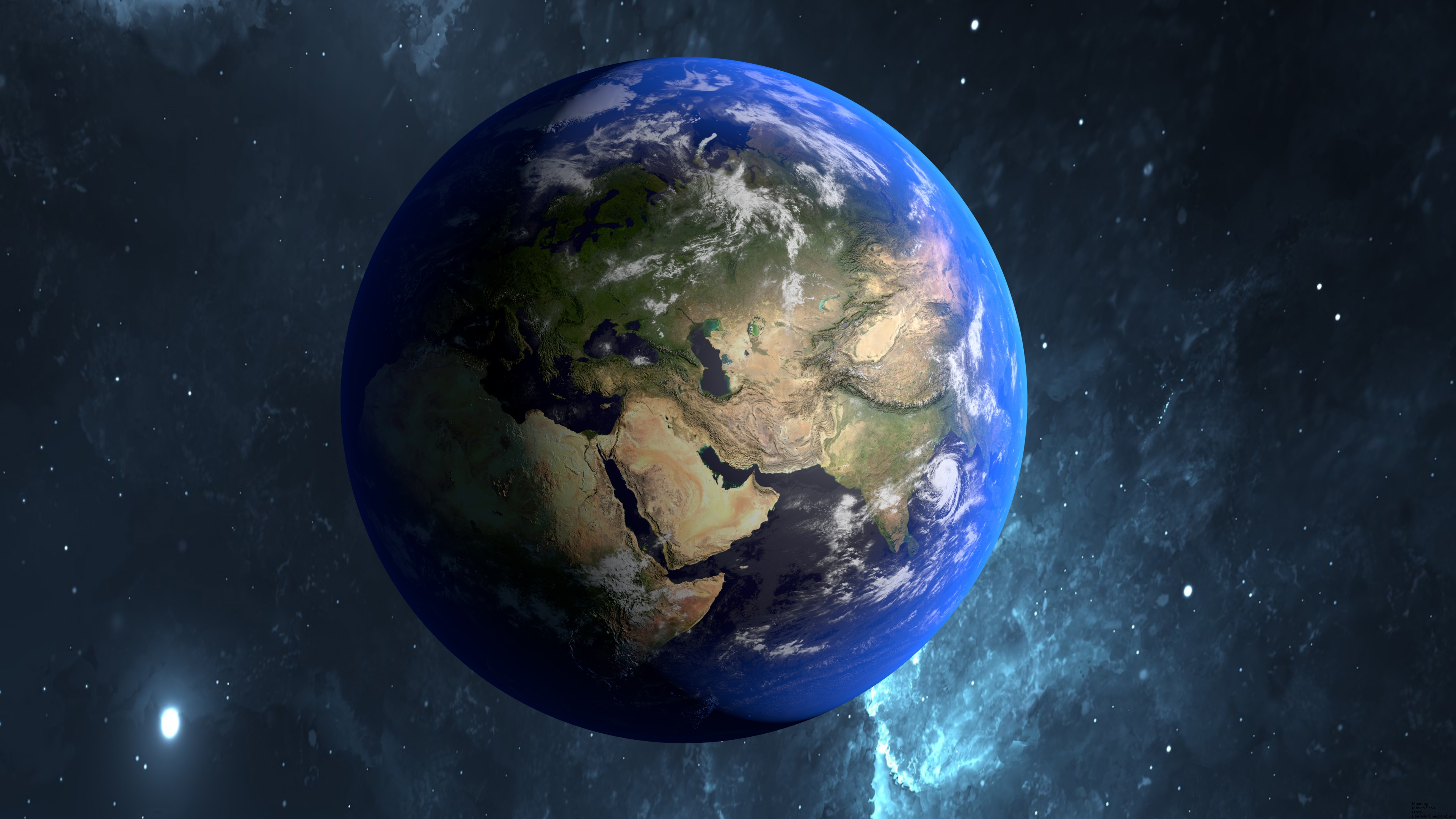 Beautiful Blue Planet Earth Wallpaper 3840x2160 UHD 4K