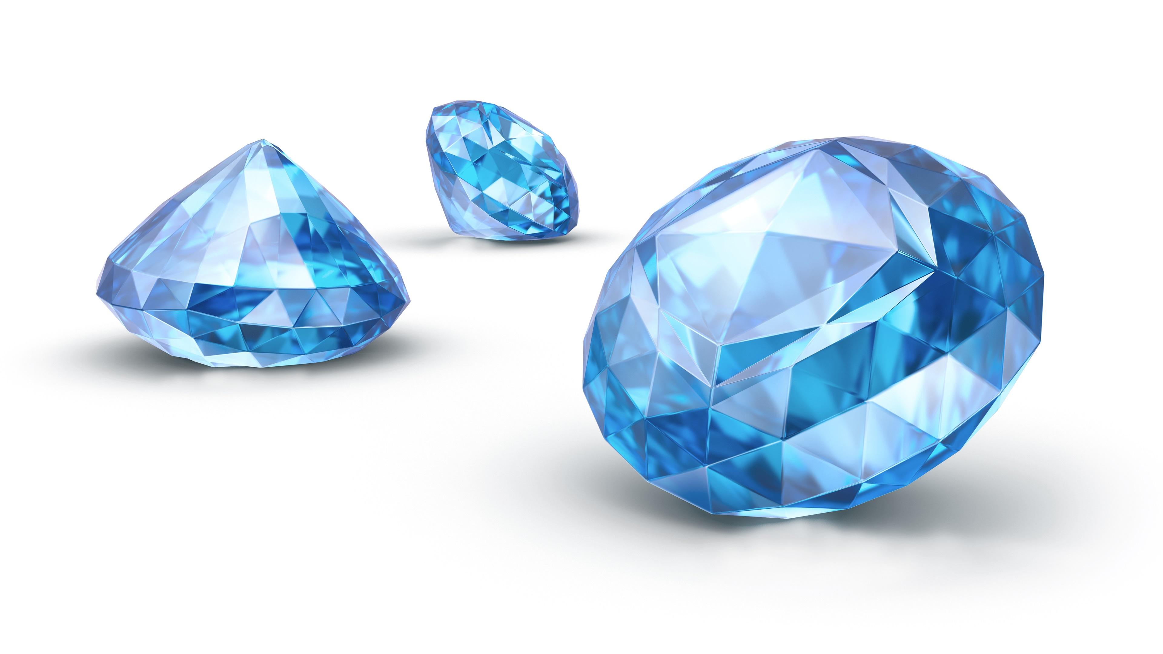 Wallpaper Sapphire Blue Diamond 3840x2160 UHD 4K Picture Image