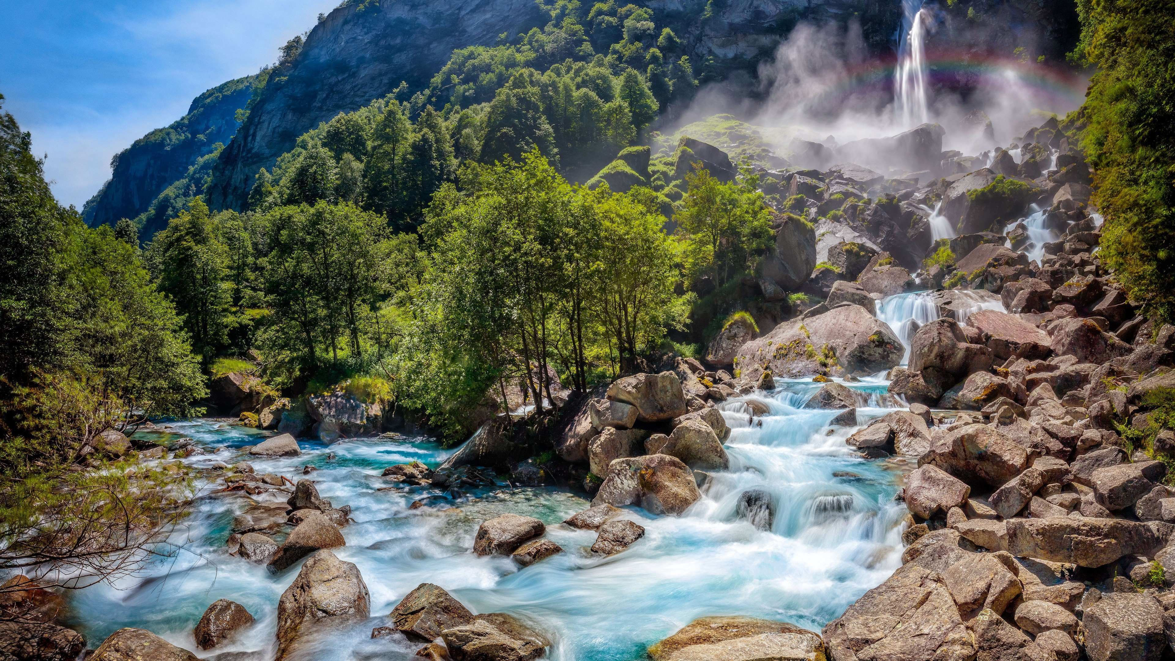 Papéis De Parede Suíça Paisagem Da Natureza, Cachoeira