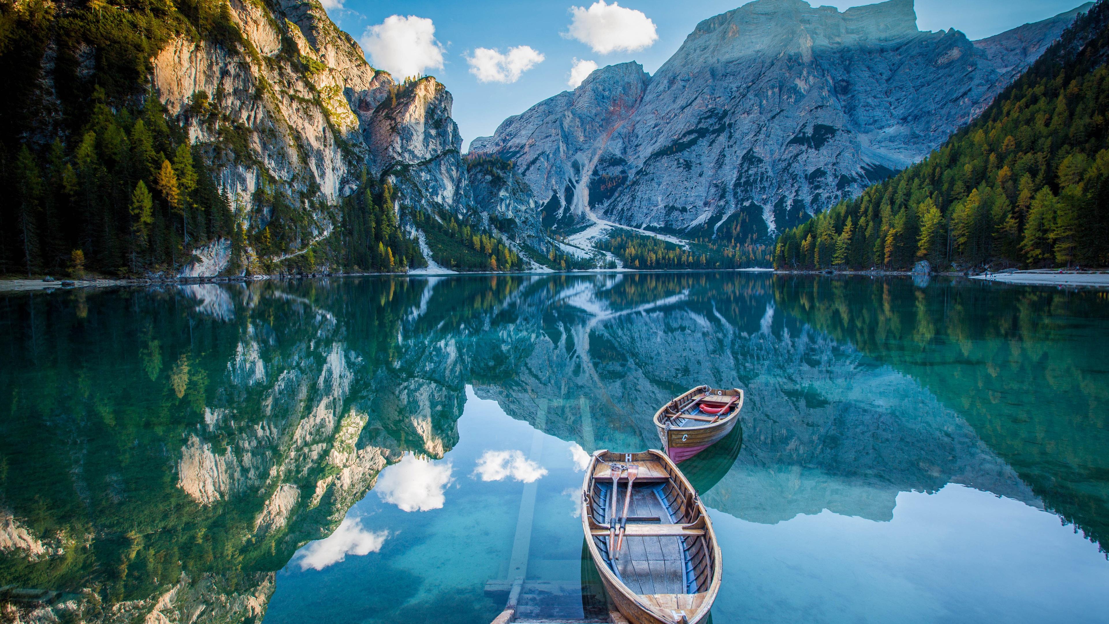 Fondos De Pantalla Lago Montañas Barcos Agua De Reflexión