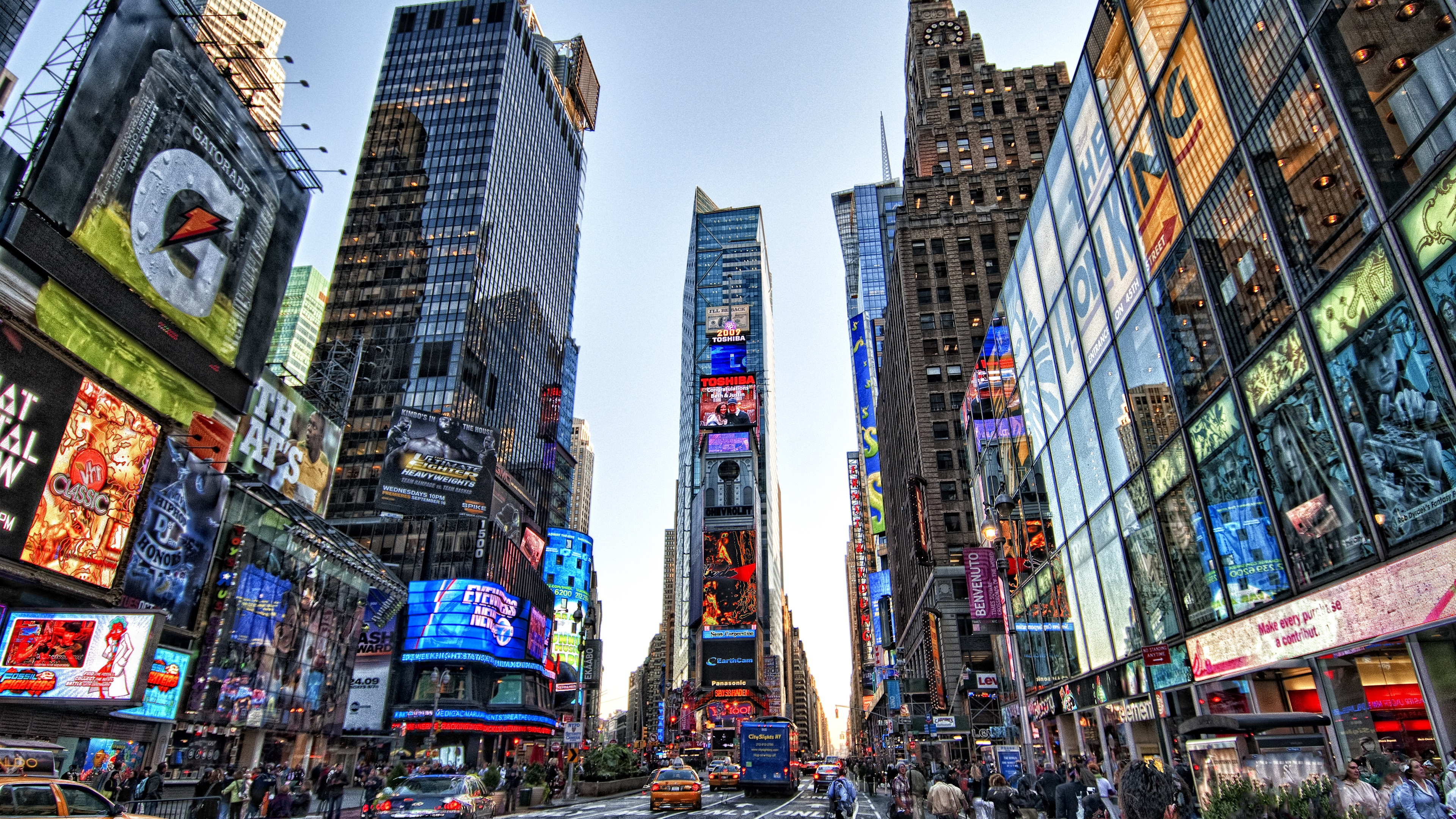 Fondos de pantalla times square nueva york estados unidos vista a la ciudad rascacielos - Times square background ...