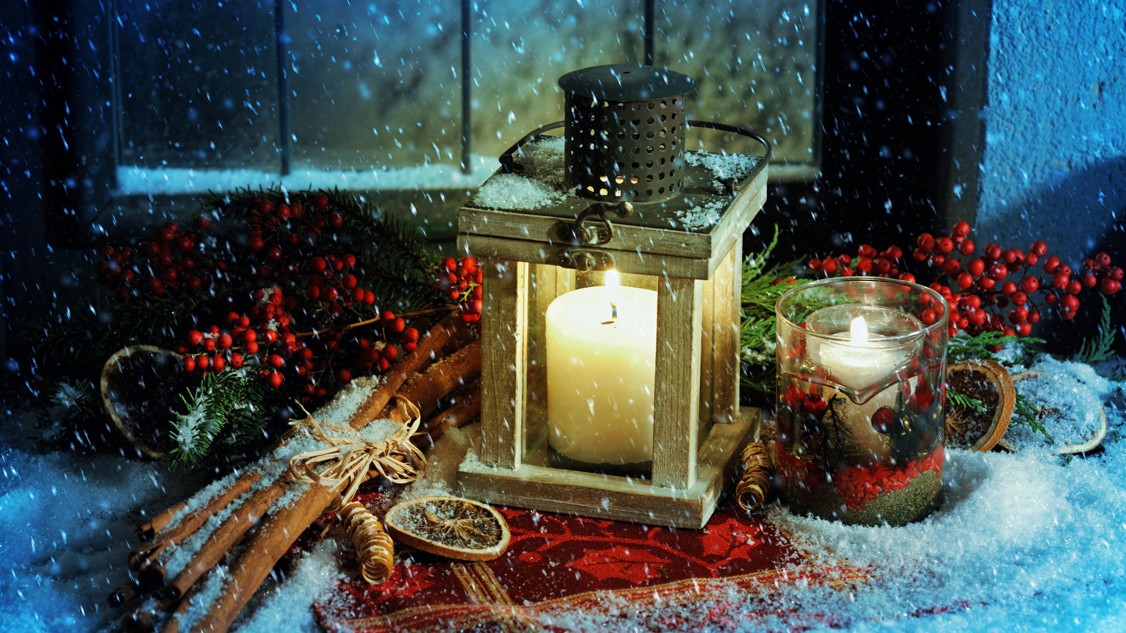 weihnachten themed laterne kerzen feuer schnee. Black Bedroom Furniture Sets. Home Design Ideas