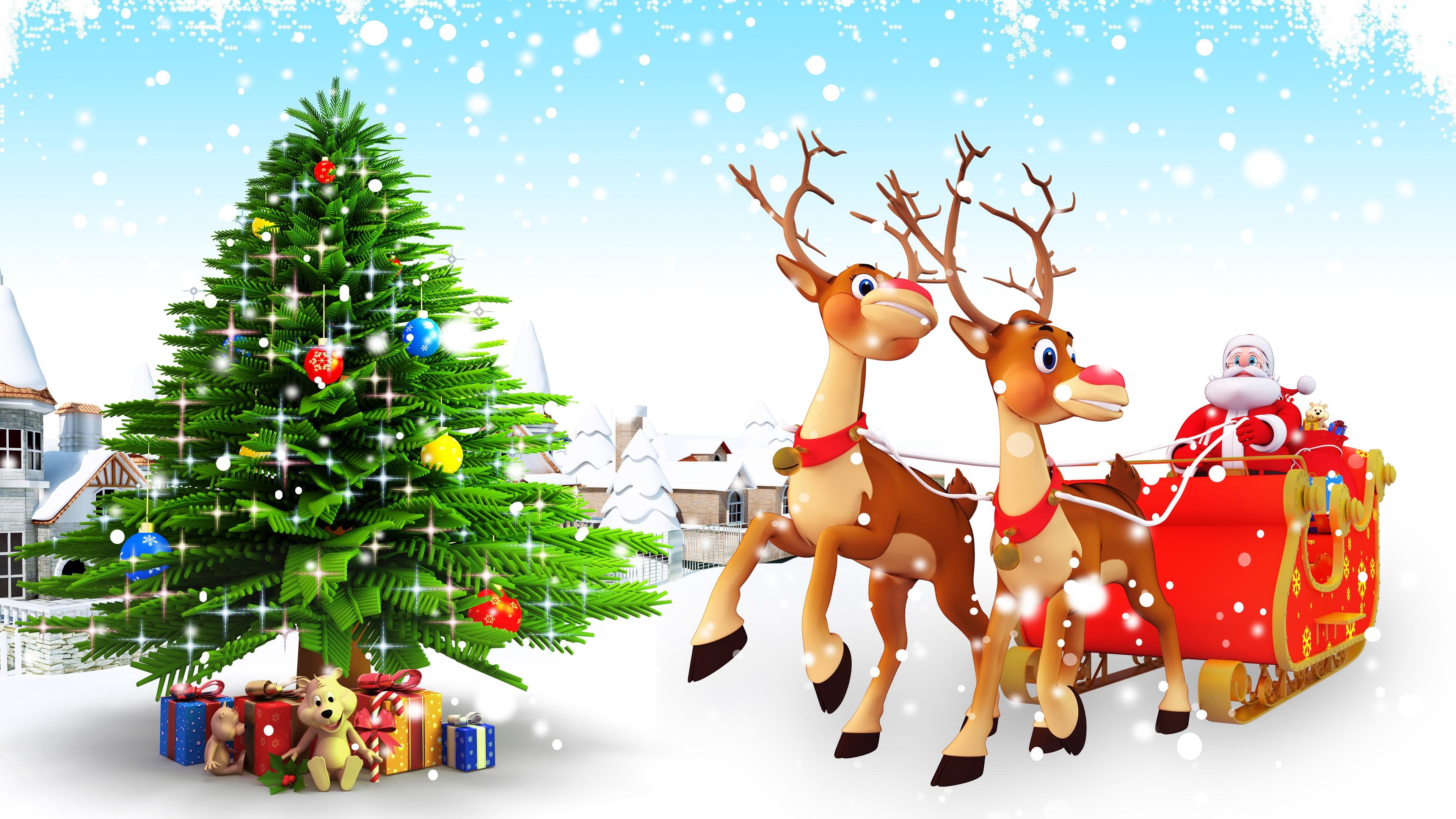 Fondos De Pantalla Árbol De Navidad, Regalos, Juguetes