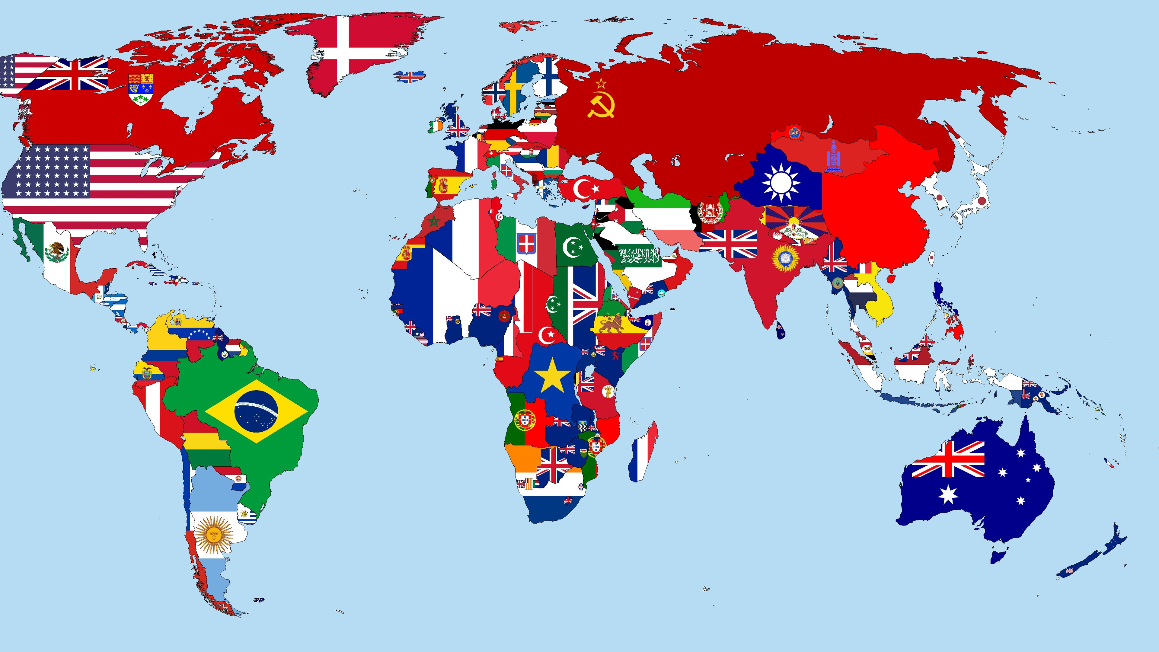 Wallpaper World Map In 1930 Flags Countries 3840x2160 Uhd 4k