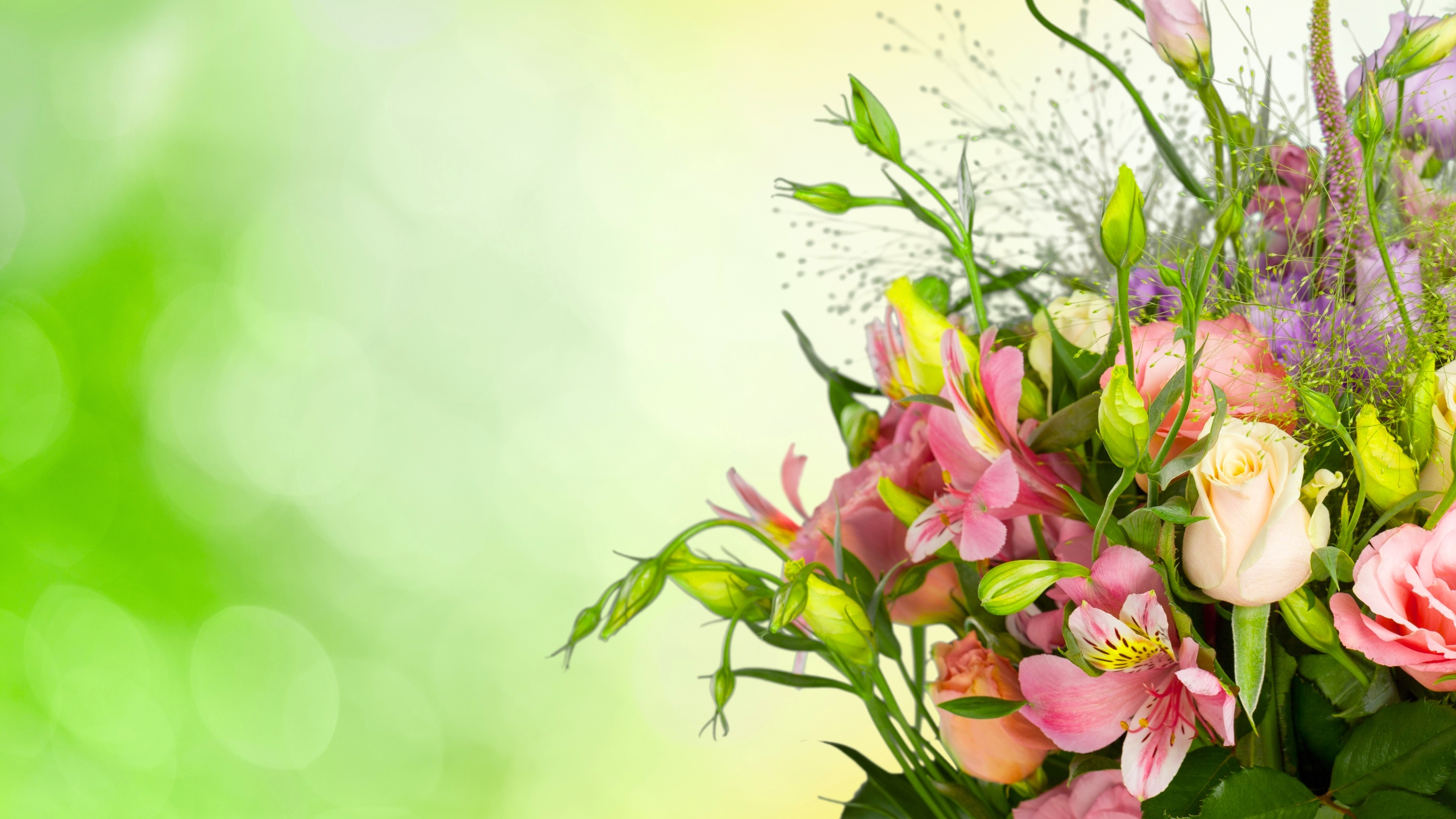 Fondo De Pantalla Flores Rosas: Fondos De Pantalla Rosas, Eustoma, Ramo, Flores, Fondo