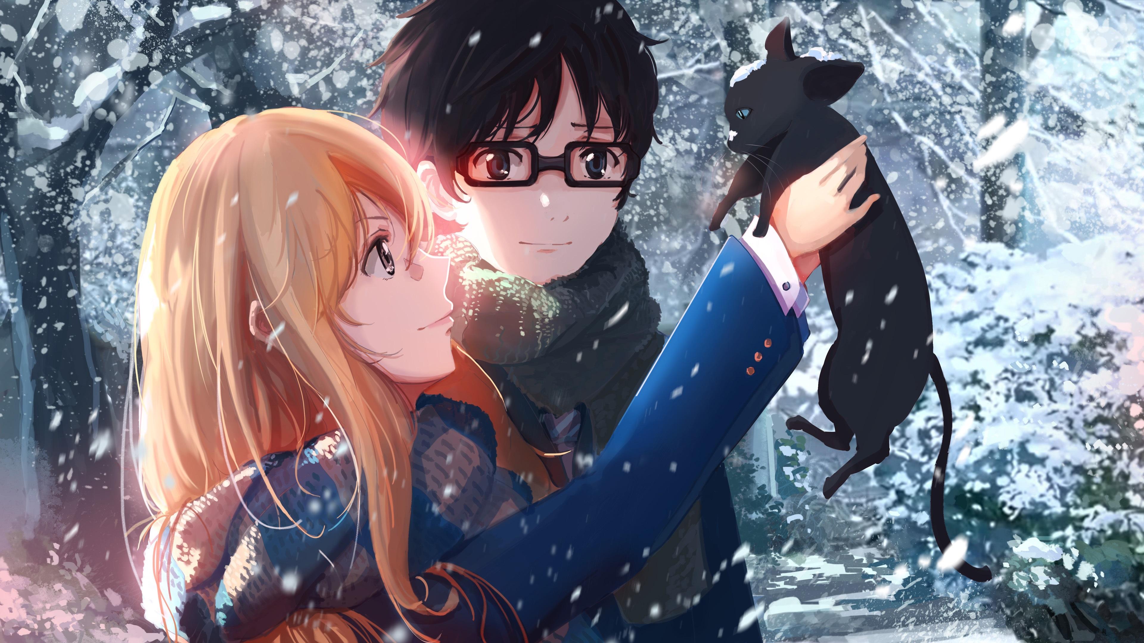 Anime Snow Cat Hd