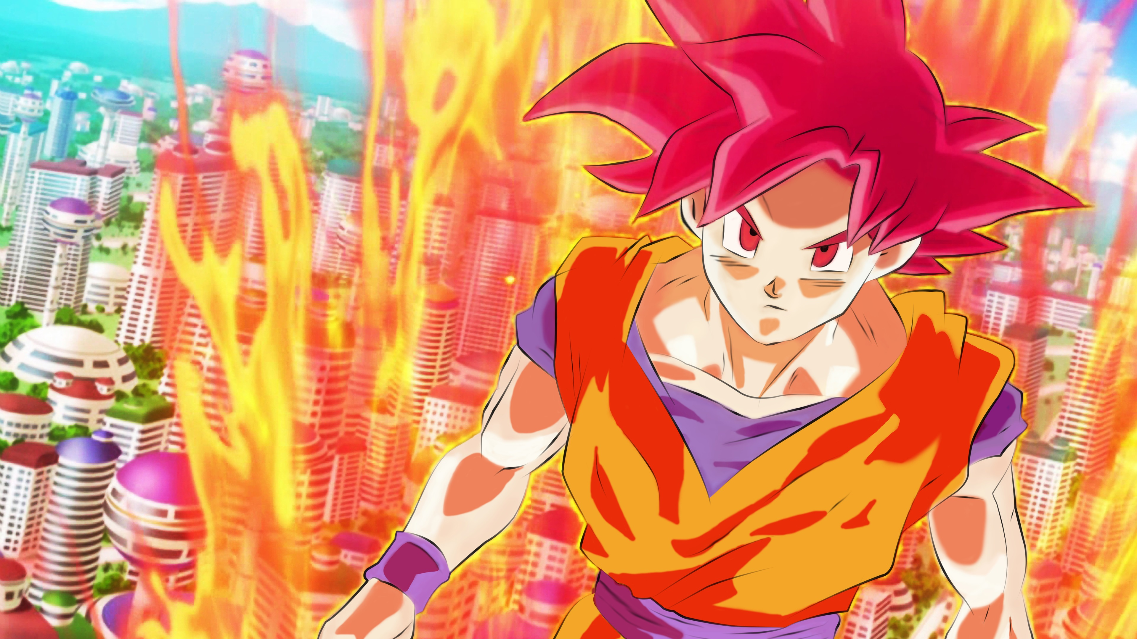 Wallpaper Dragon Ball Z Super Saiyan Monkey 3840x2160 Uhd