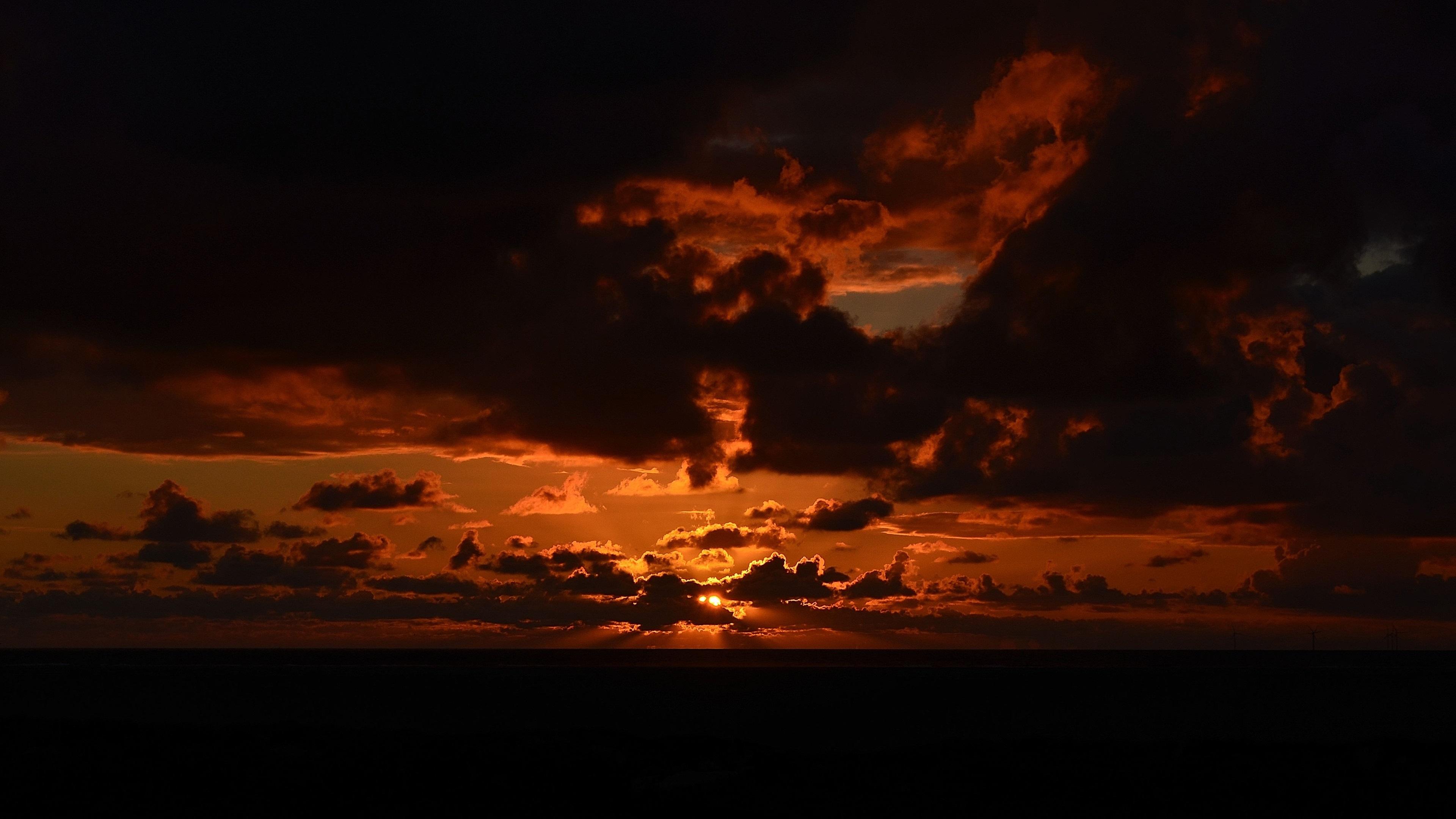 Wallpaper Sunset Clouds Sky Sun Dusk 3840x2160 Uhd 4k Picture