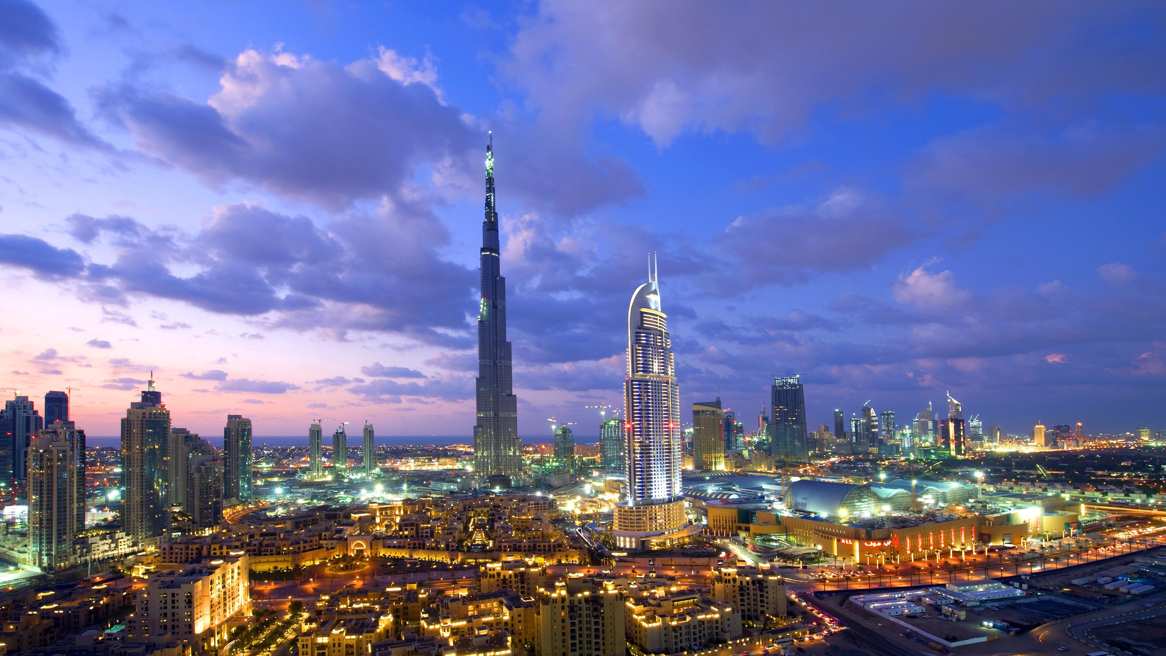 Fondos De Pantalla Dubai Rascacielos Edificios Noche