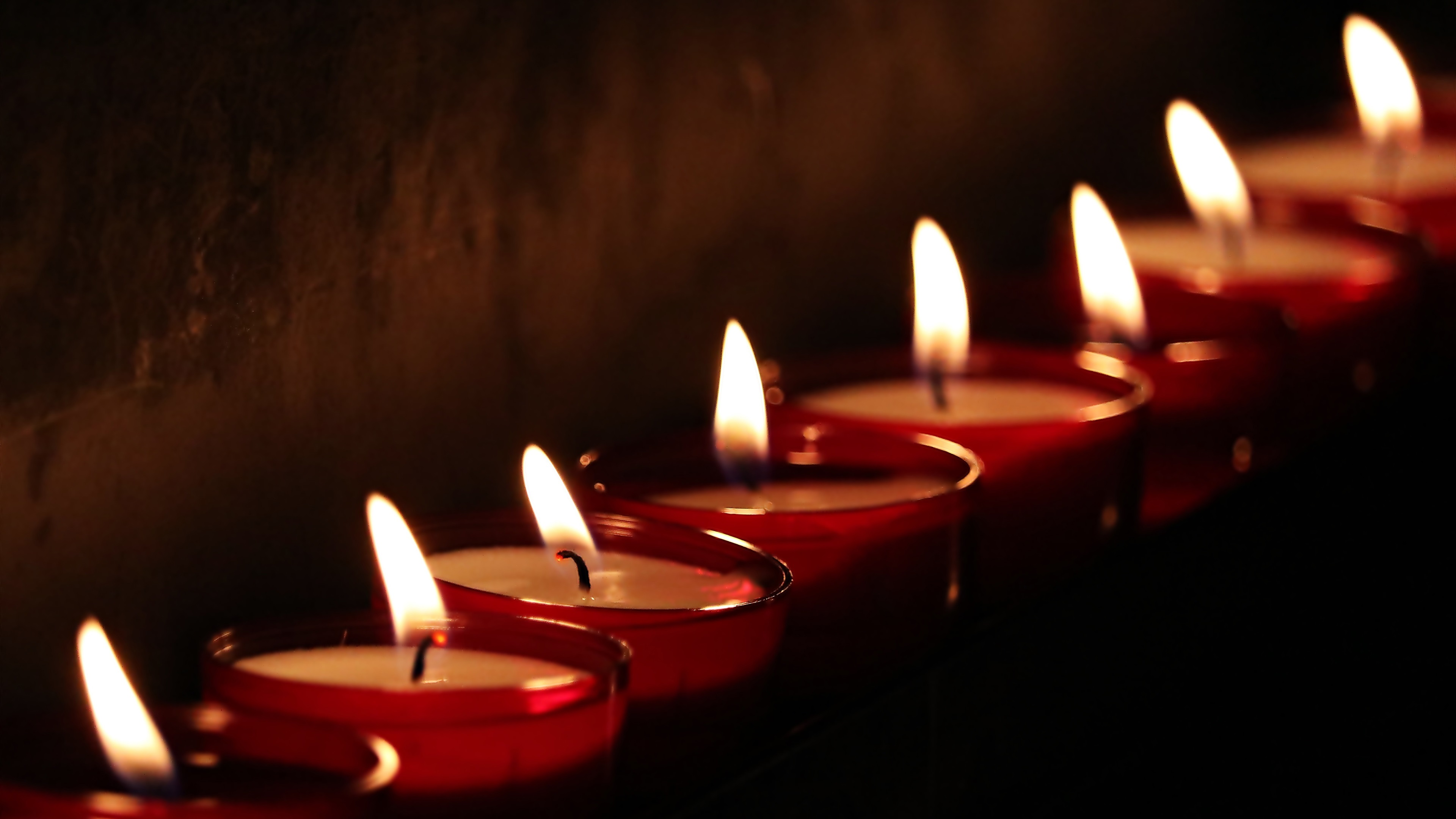 Wallpaper Candles Fire Flame Black Background 3840x2160 Uhd 4k Picture Image