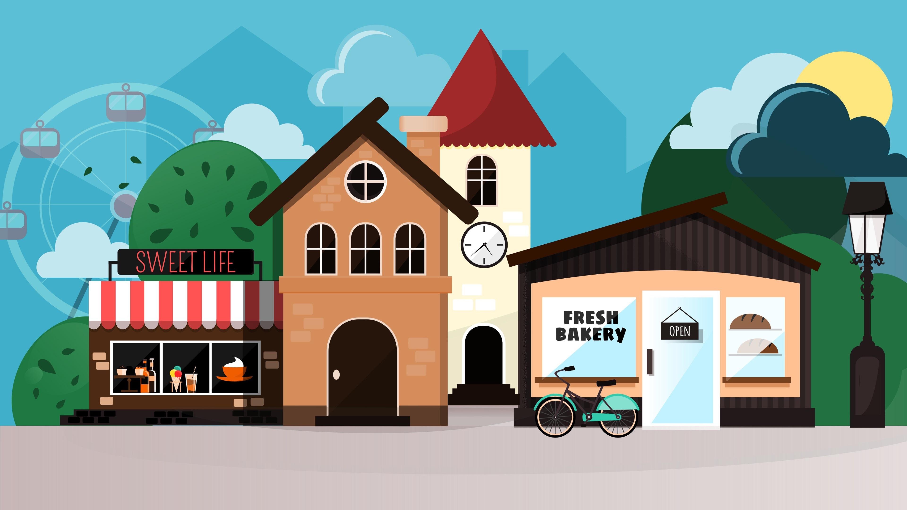 сцене картинка домик с улицами этот момент