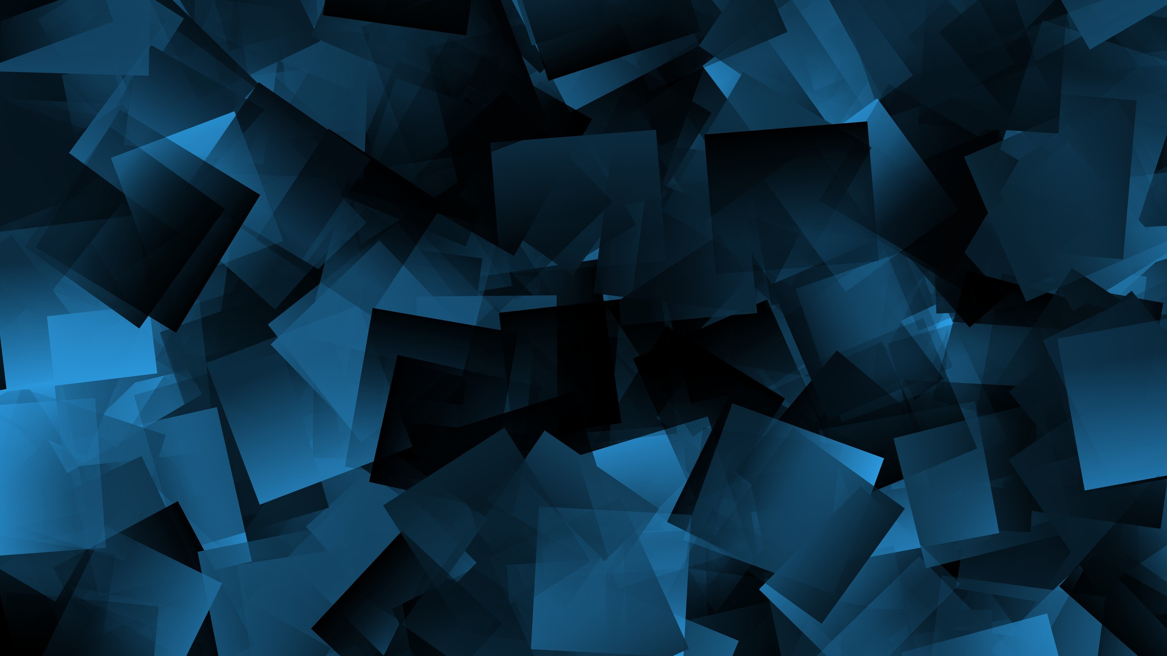 Wallpaper Blue Shapes Abstract Black Background 3840x2160 Uhd 4k Picture Image