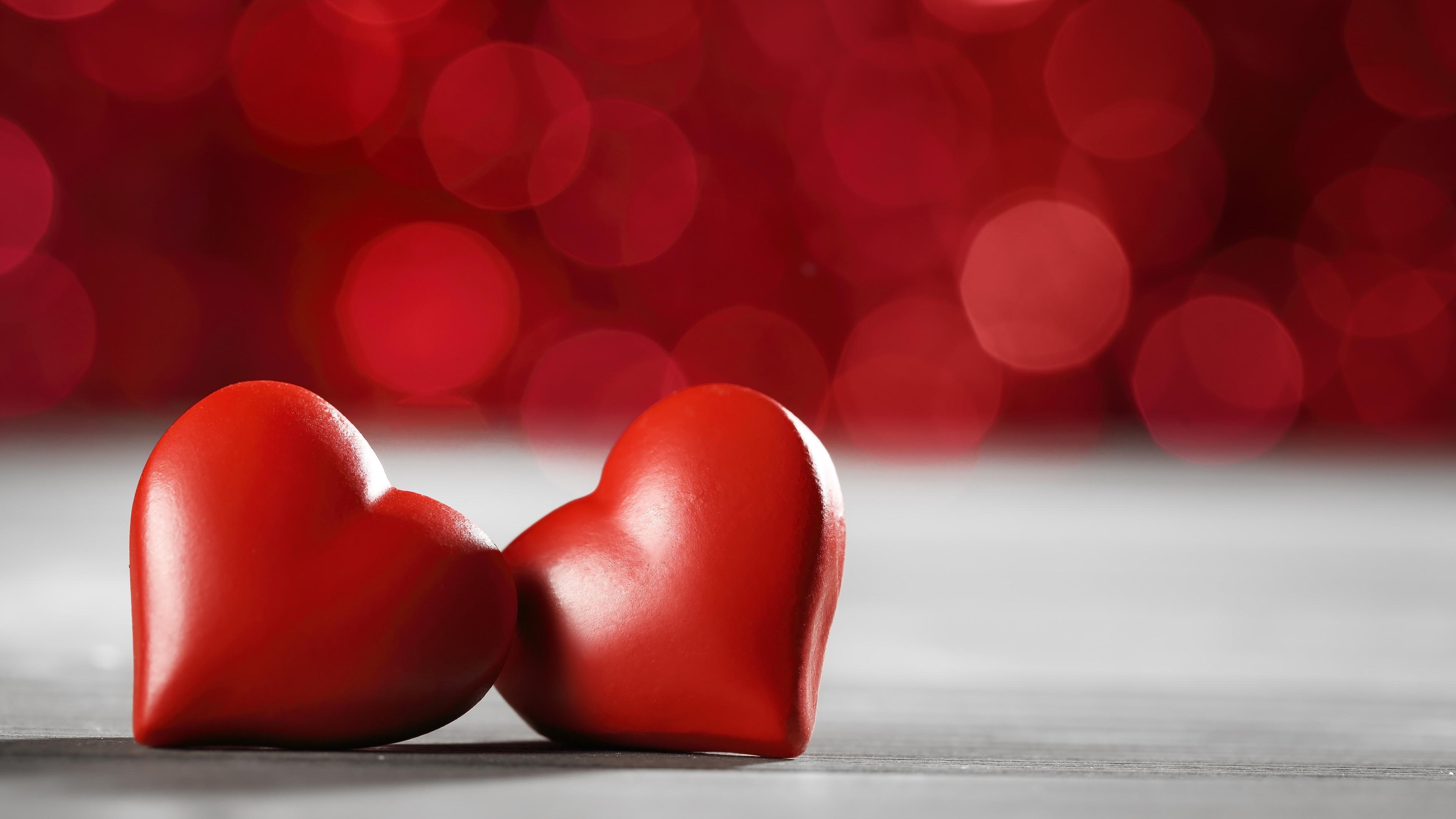 Corazones Fondo De Pantalla: Dos Corazones De Amor, Estilo Rojo Fondos De Pantalla