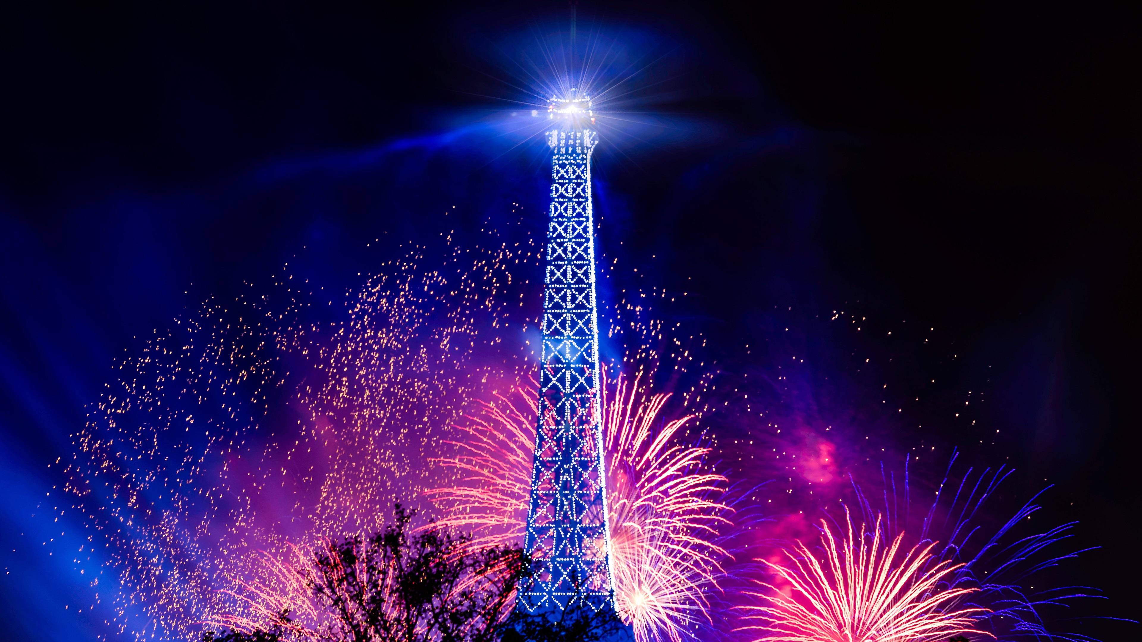 Fondos De Pantalla Torre Eiffel, Noche De Fiesta, Luces