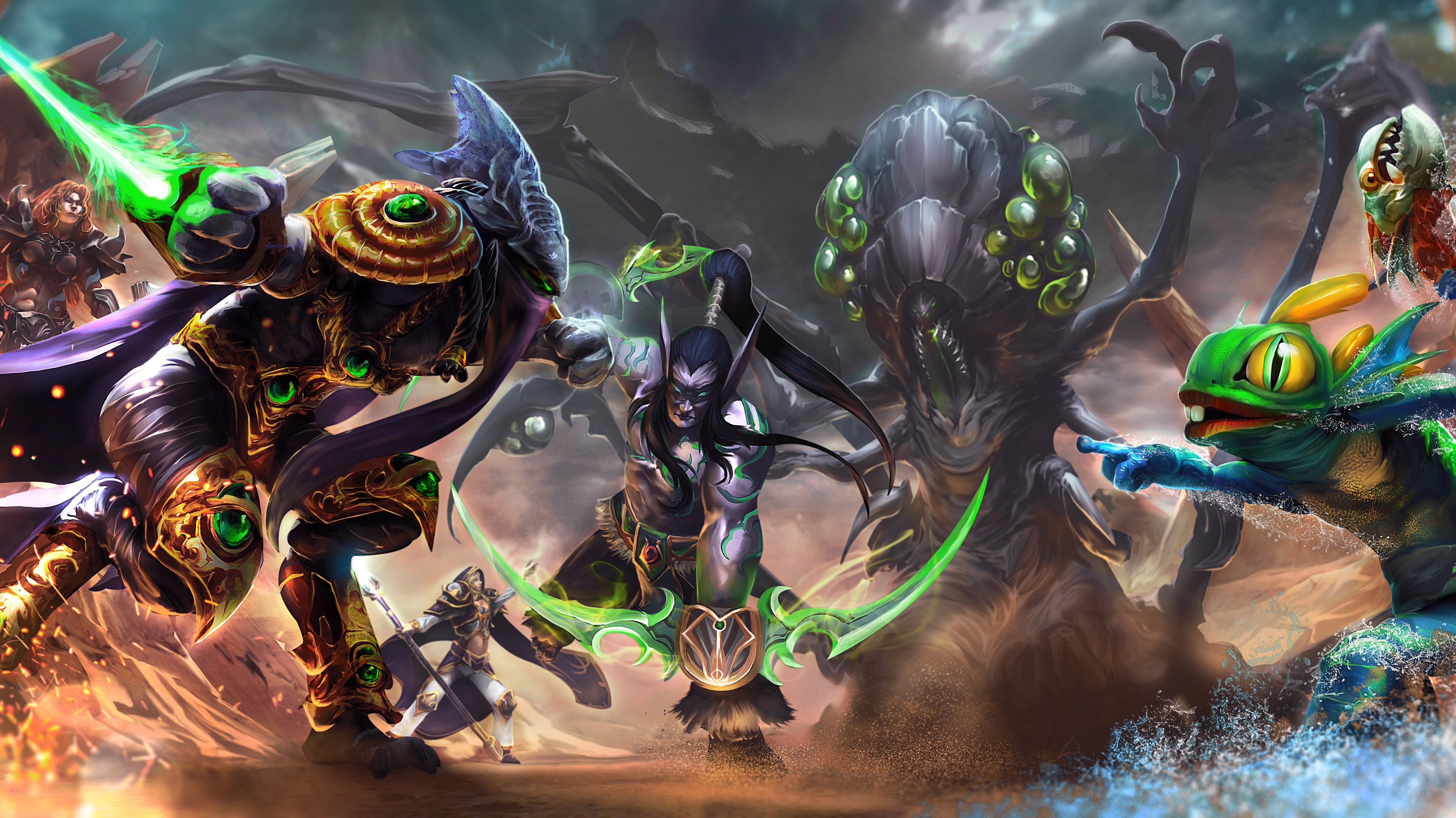 Wallpaper Heroes Of The Storm Art Picture 3840x2160 Uhd 4k