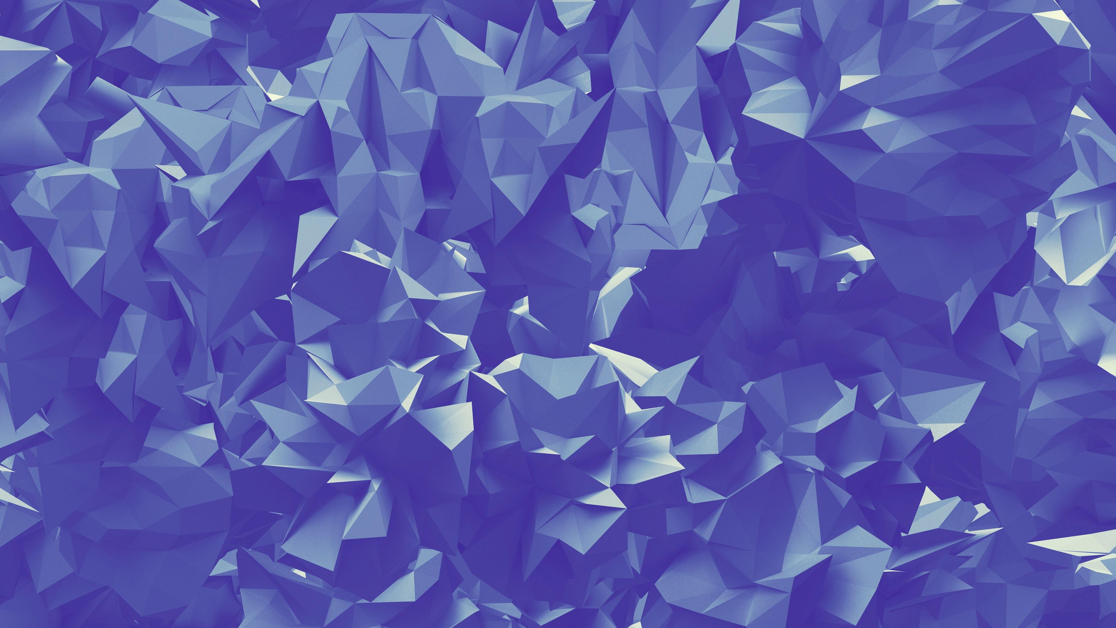 壁紙 紙折りたたみ 幾何学的な三角形の抽象的な 3840x2160 Uhd 4k