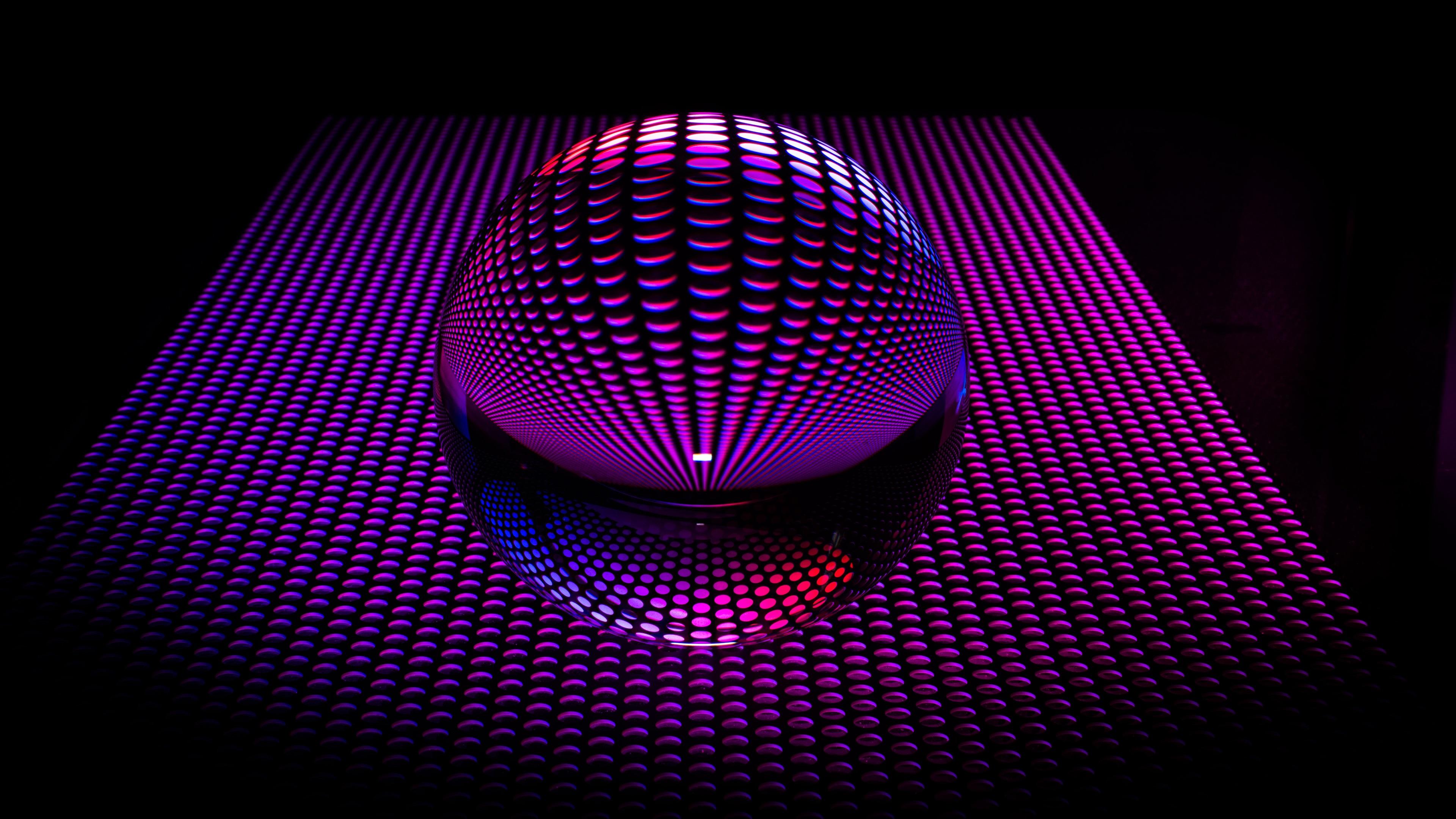 Fondos De Pantalla Forma De Bola Púrpura 3d 3840x2160 Uhd 4k