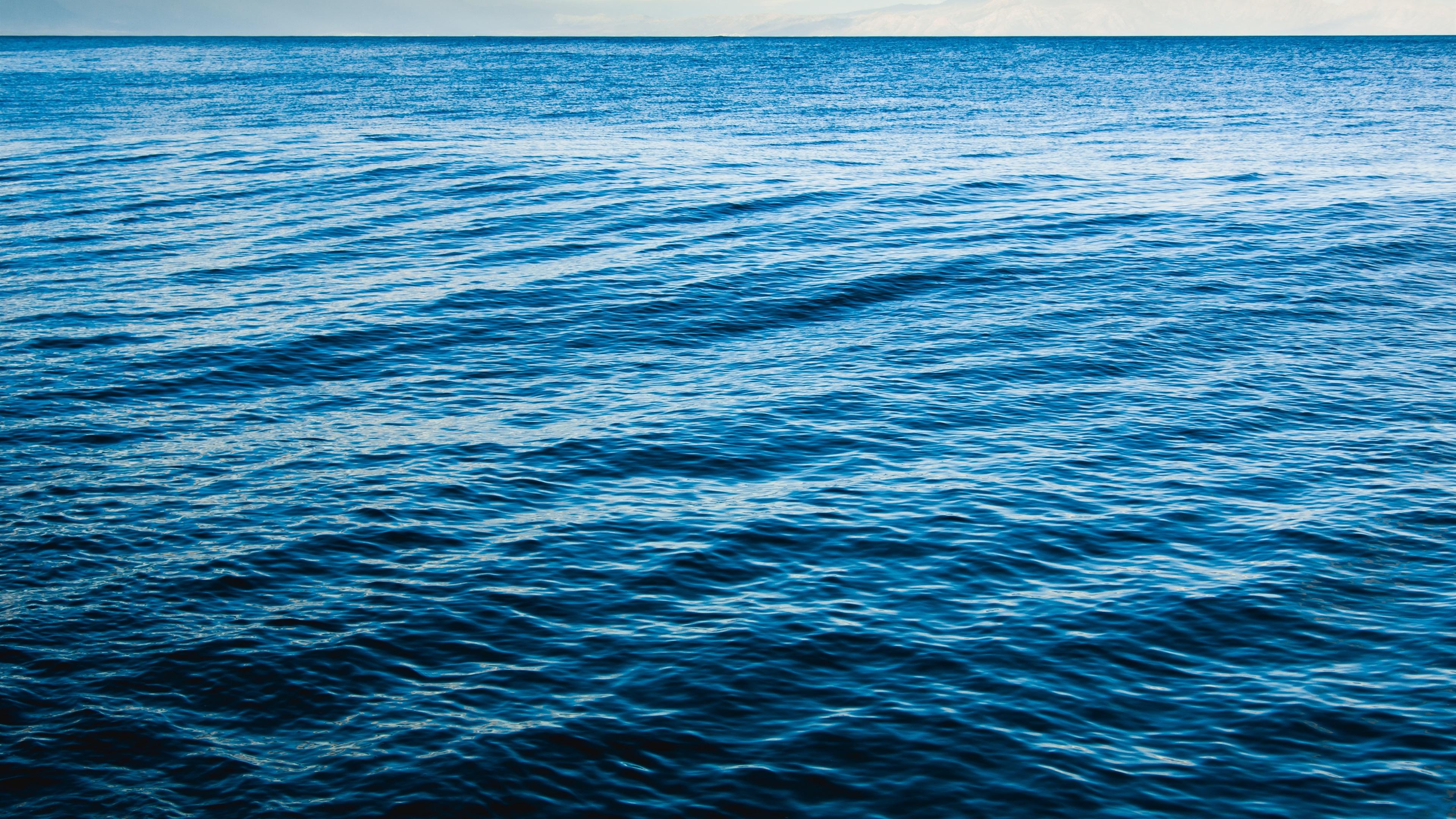 Papéis De Parede Mar, Ondas, Azul, Natureza 3840x2160 UHD