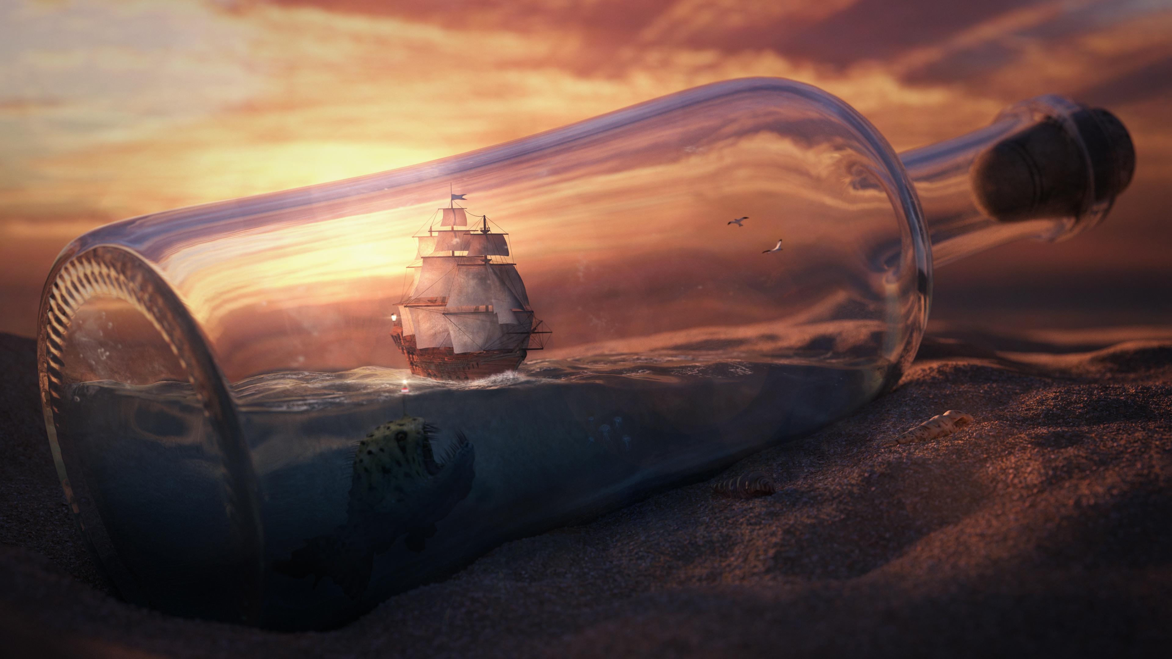 море в бутылке подборки