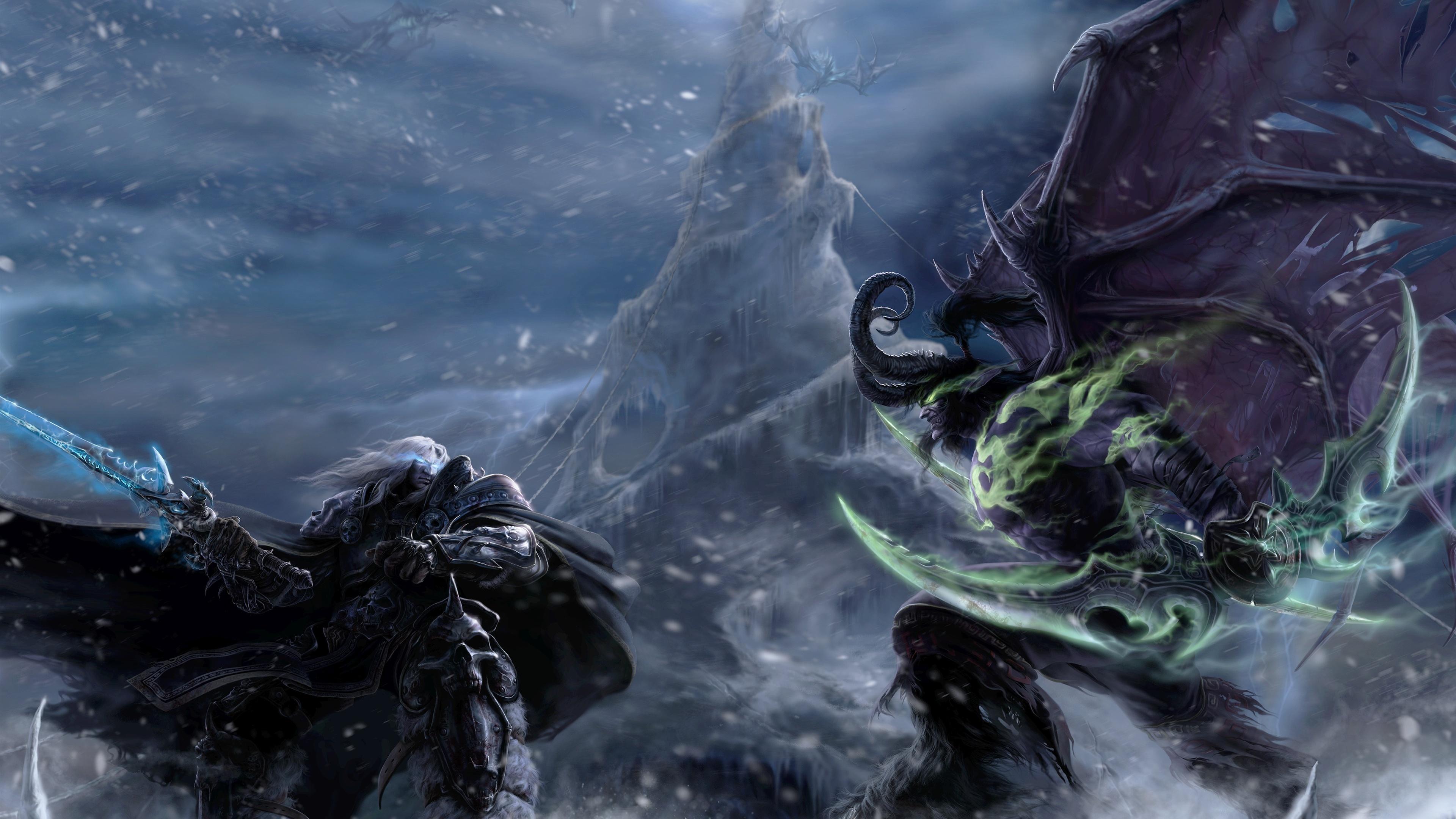 Wallpaper Illidan Stormrage Warcraft Demon Elf Art Picture