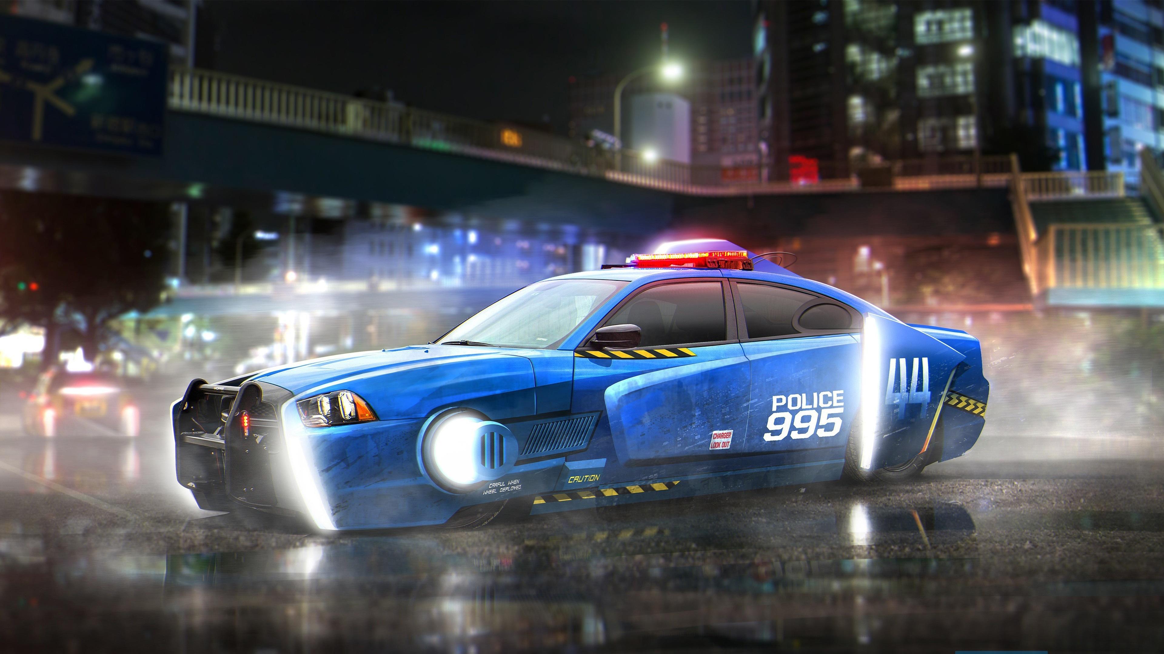 Wallpaper Blade Runner 2049 Dodge Charger Police Car