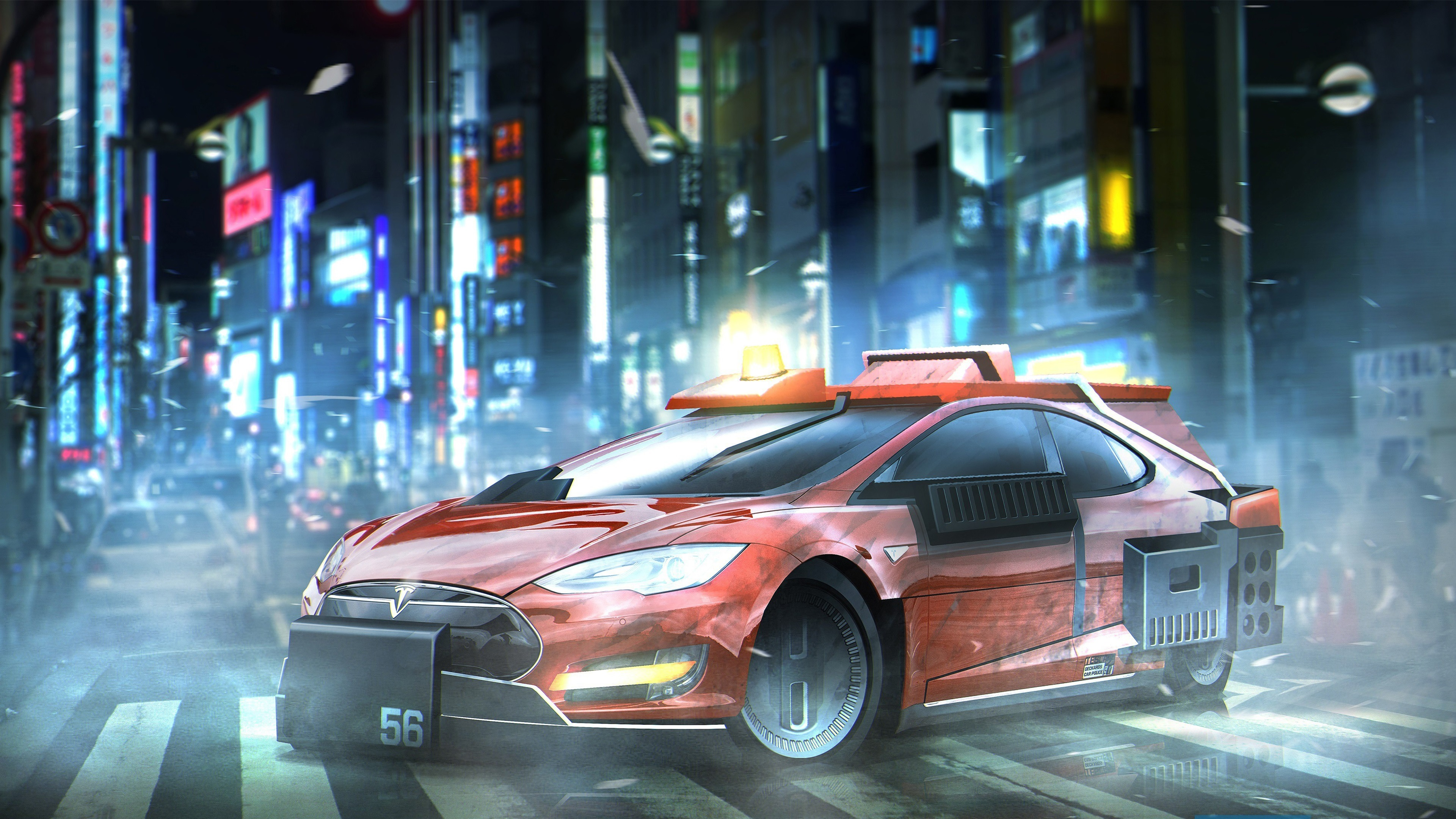 Wallpaper Blade Runner 2049 Tesla Model S Car 3840x2160 Uhd 4k