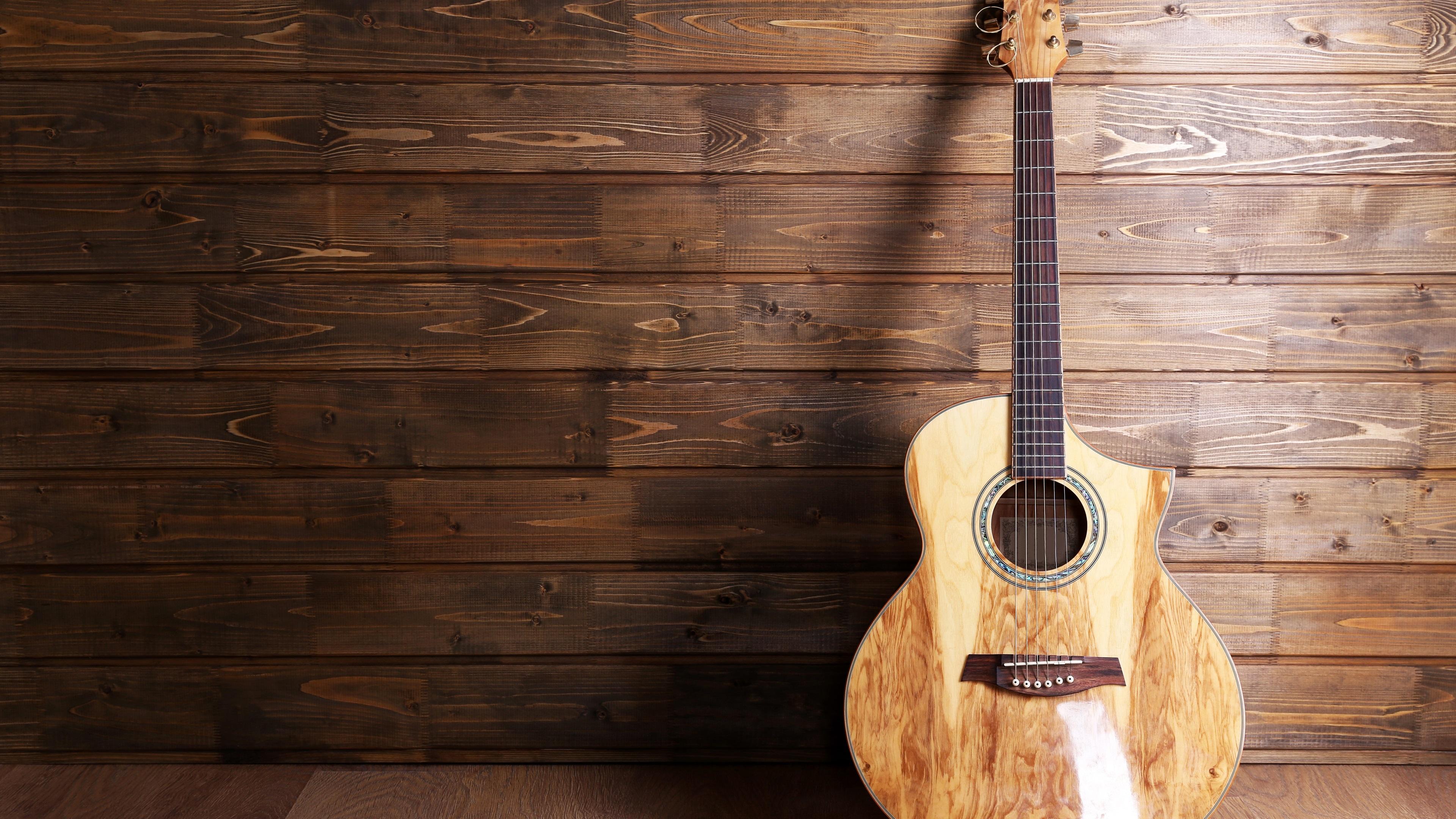 Fonds D'écran Guitare, Musique, Bois 3840x2160 UHD 4K Image