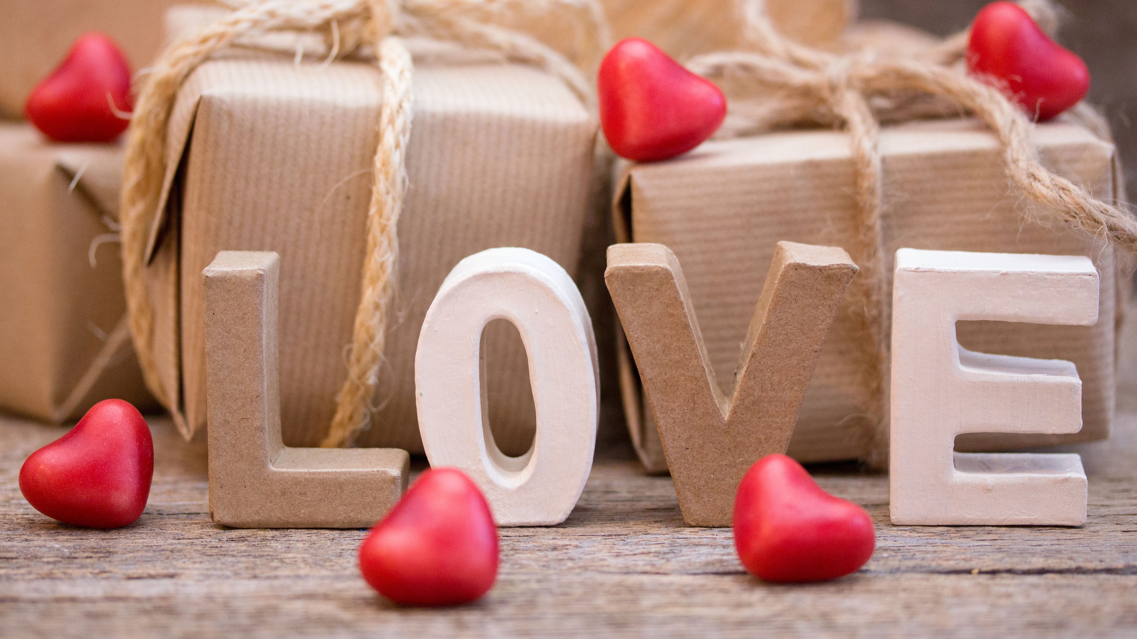 Wallpaper Love Gift Decoration 3840x2160 Uhd 4k Picture Image