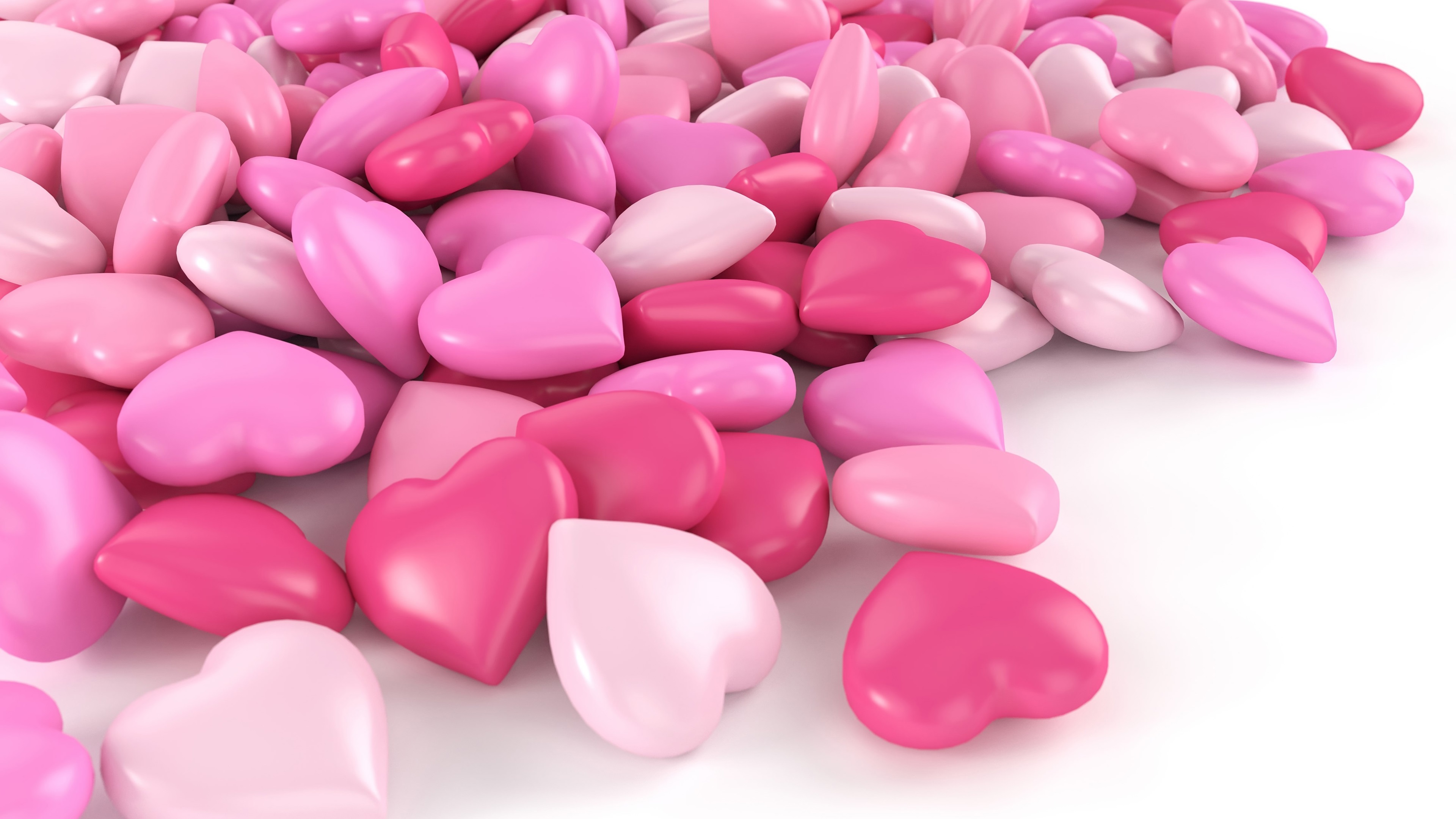 wallpaper pink love heart candy 3840x2160 uhd 4k picture, image