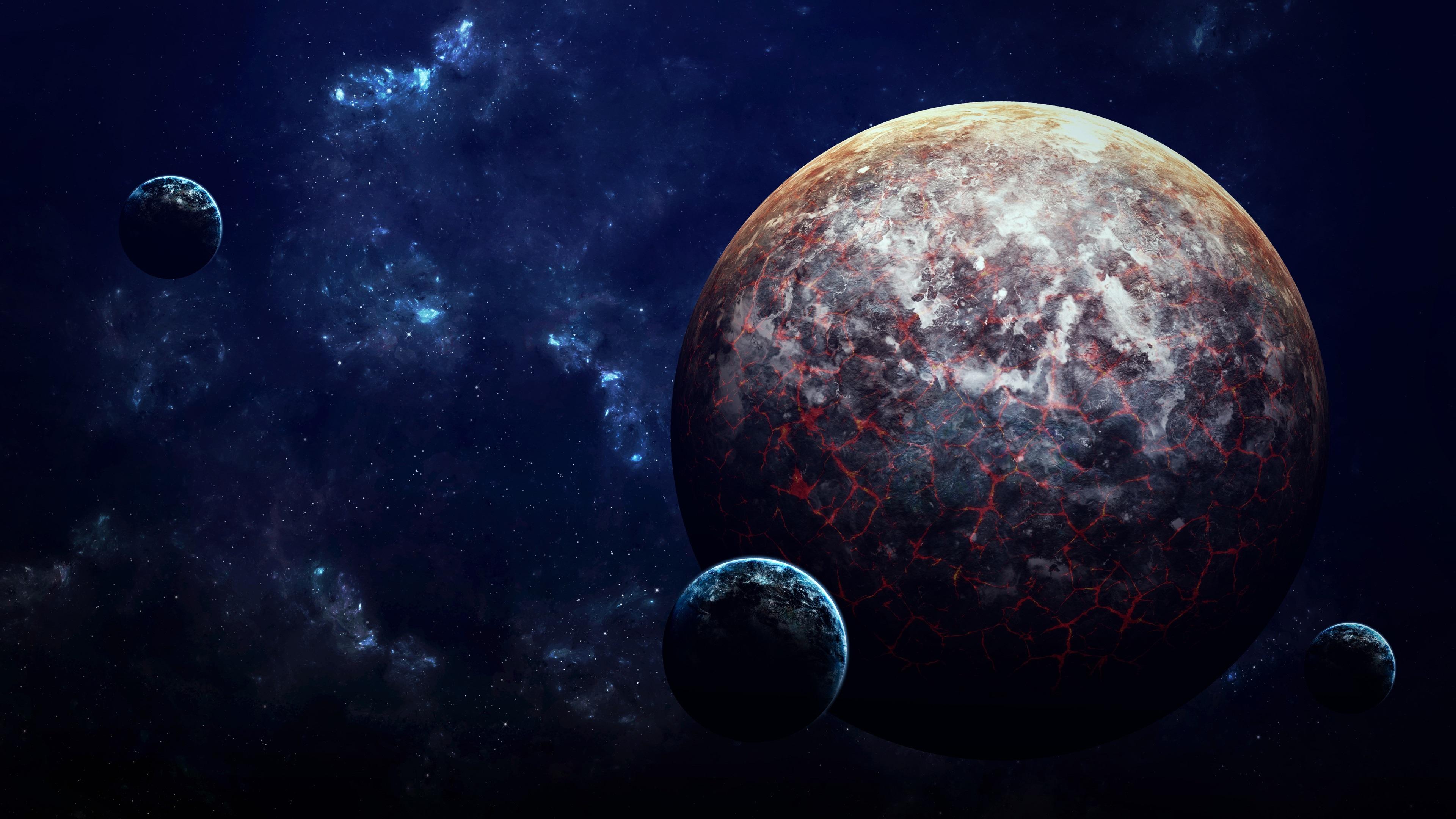 Fondos De Pantalla Planetas, Lava, Ciencia Ficción