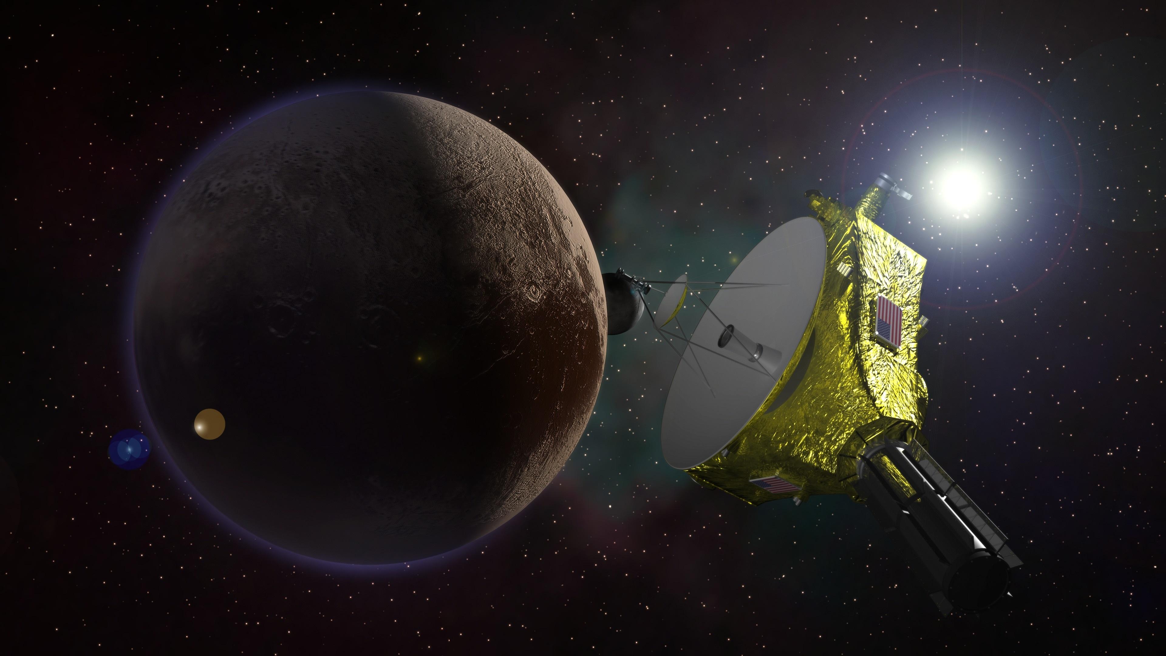 Wallpaper Pluto Planet Interplanetary Station Nasa
