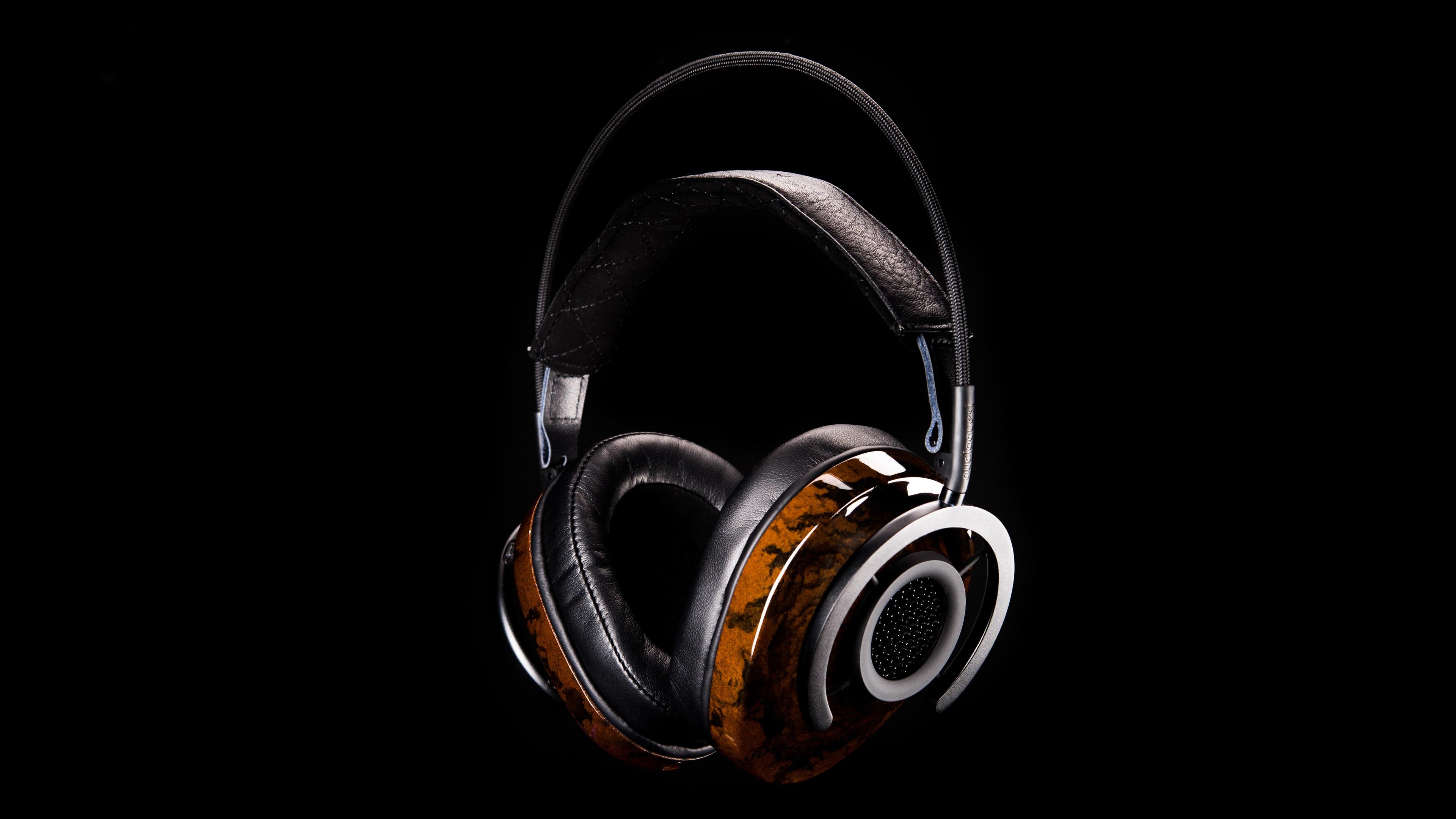 Fonds Décran Casque Audio Audio Fond Noir 3840x2160 Uhd