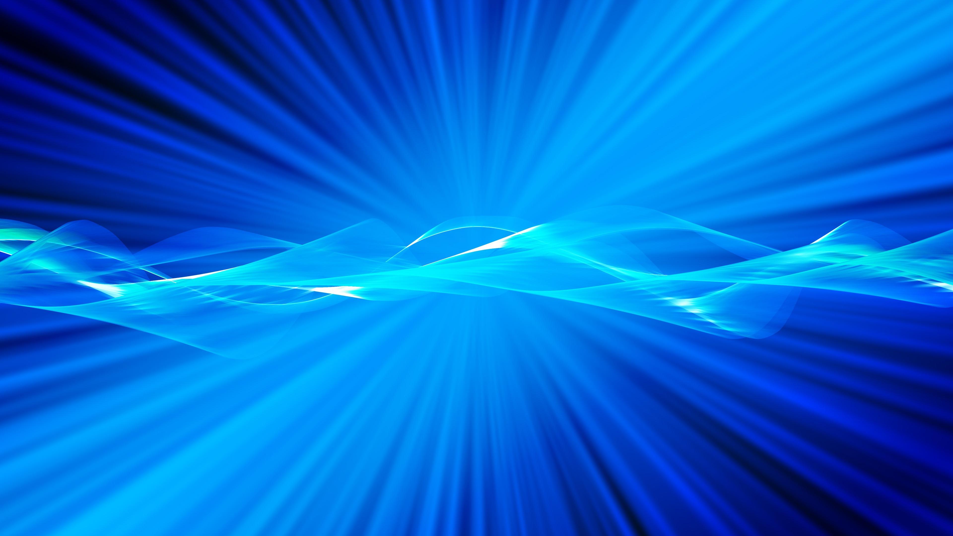 Fonds d'écran Rayons de lumière, style bleu, résumé 3840x2160 UHD 4K image