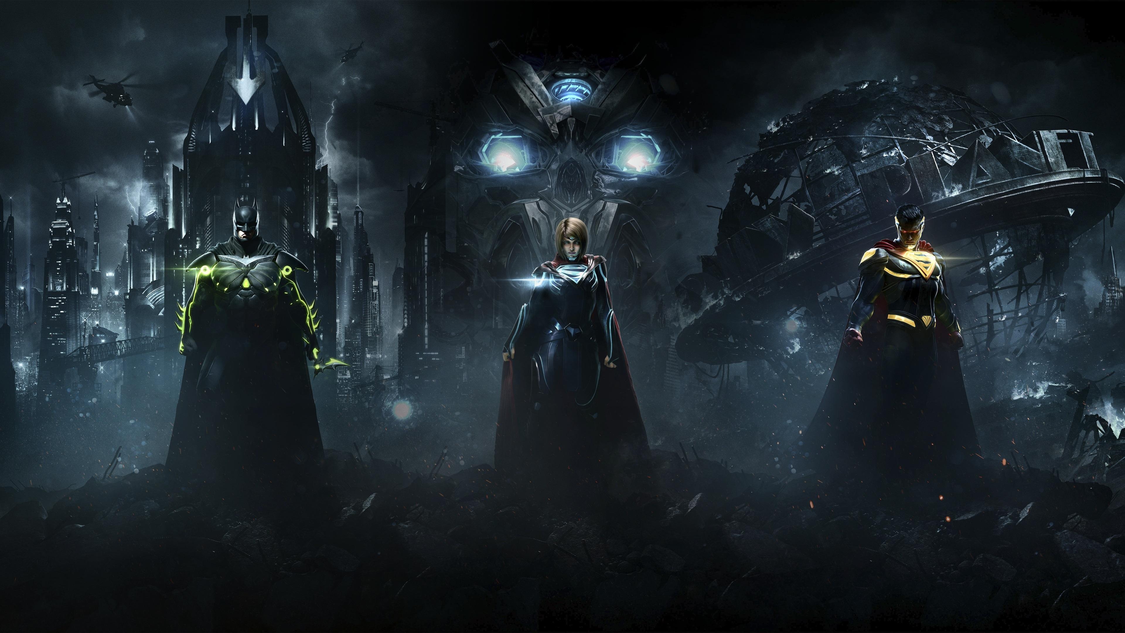 壁紙 インジャスティス 2 バットマン スーパーマン スーパーガール