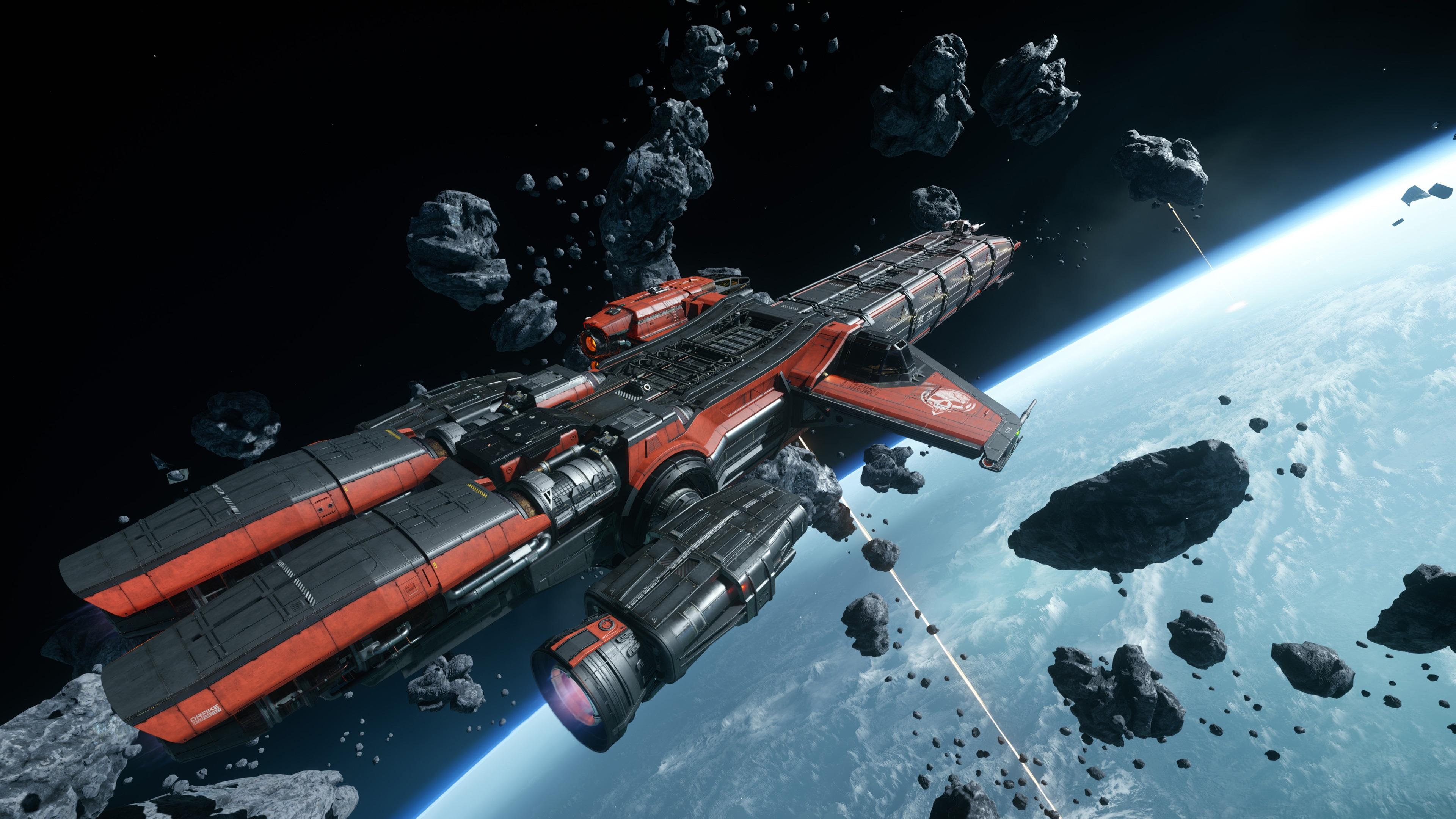 壁紙 スターシチズン 宇宙船 宇宙 Pcゲーム 3840x2160 Uhd 4k 無料のデスクトップの背景 画像