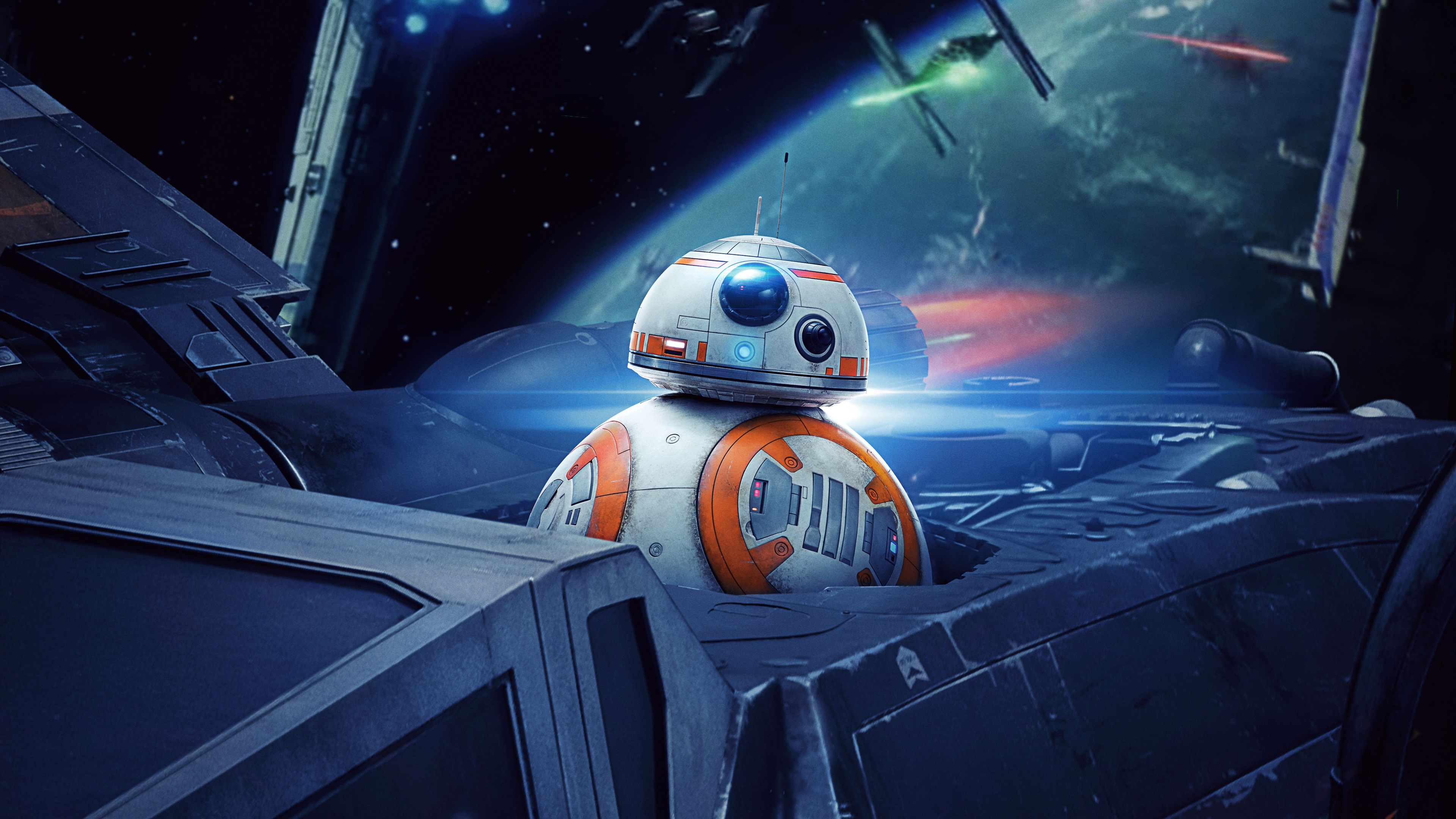 Fondos De Pantalla Star Wars Robot Bb8 Nave Espacial