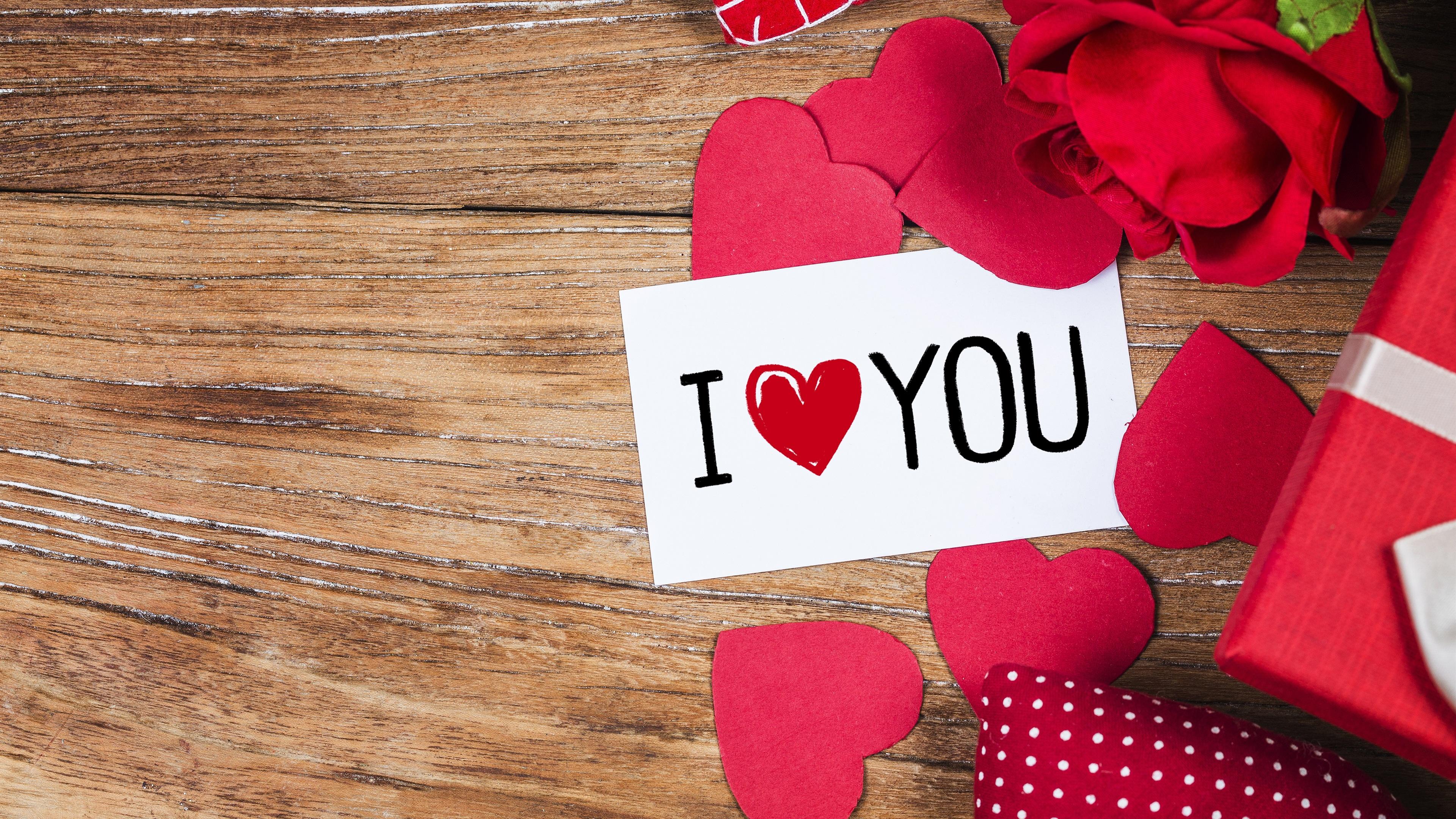 Fondos de pantalla te amo amo corazones regalo 3840x2160 - I love you 4k ...