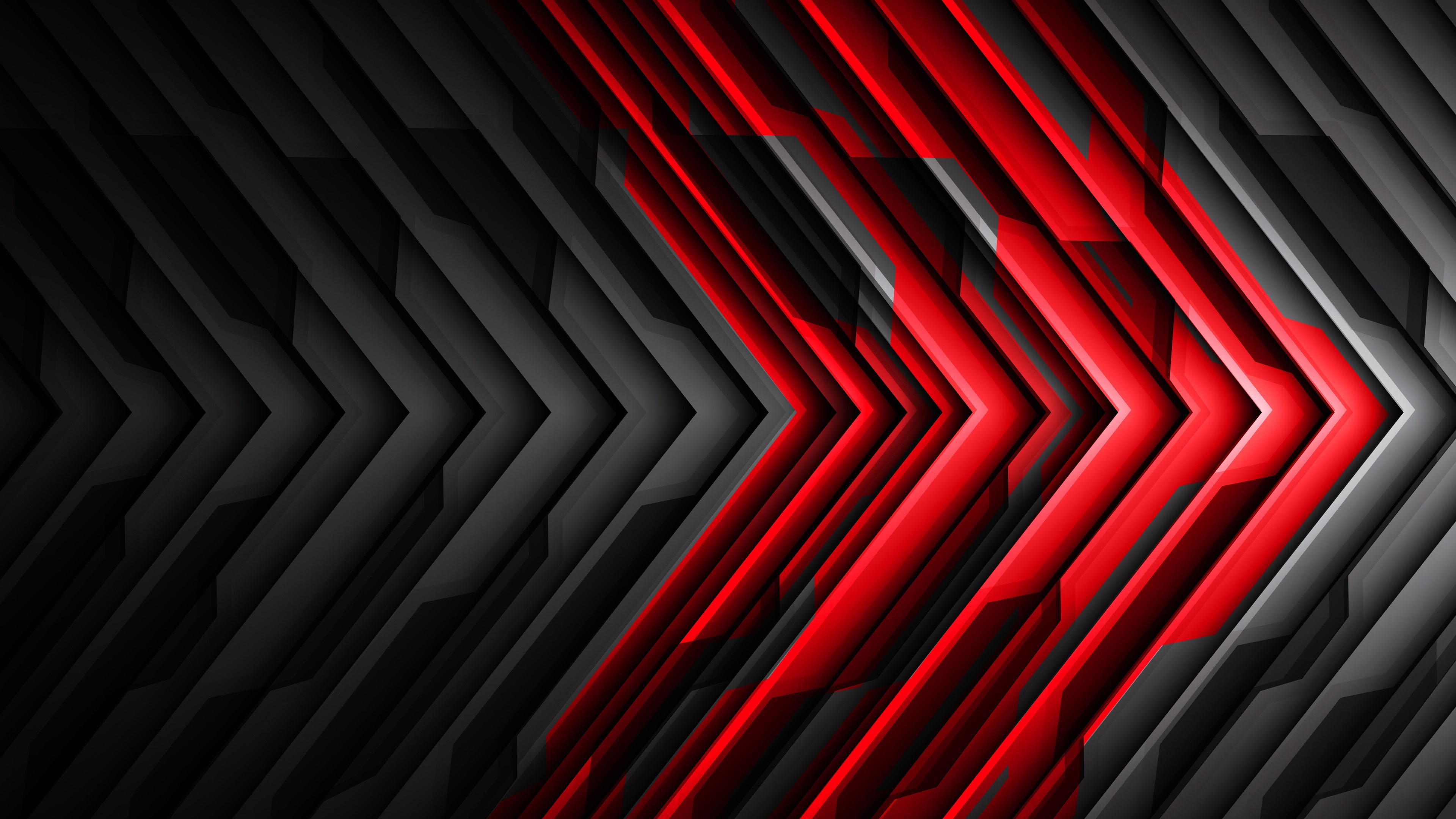 Wallpaper Black And Red Striped Arrow Abstract 3840x2160