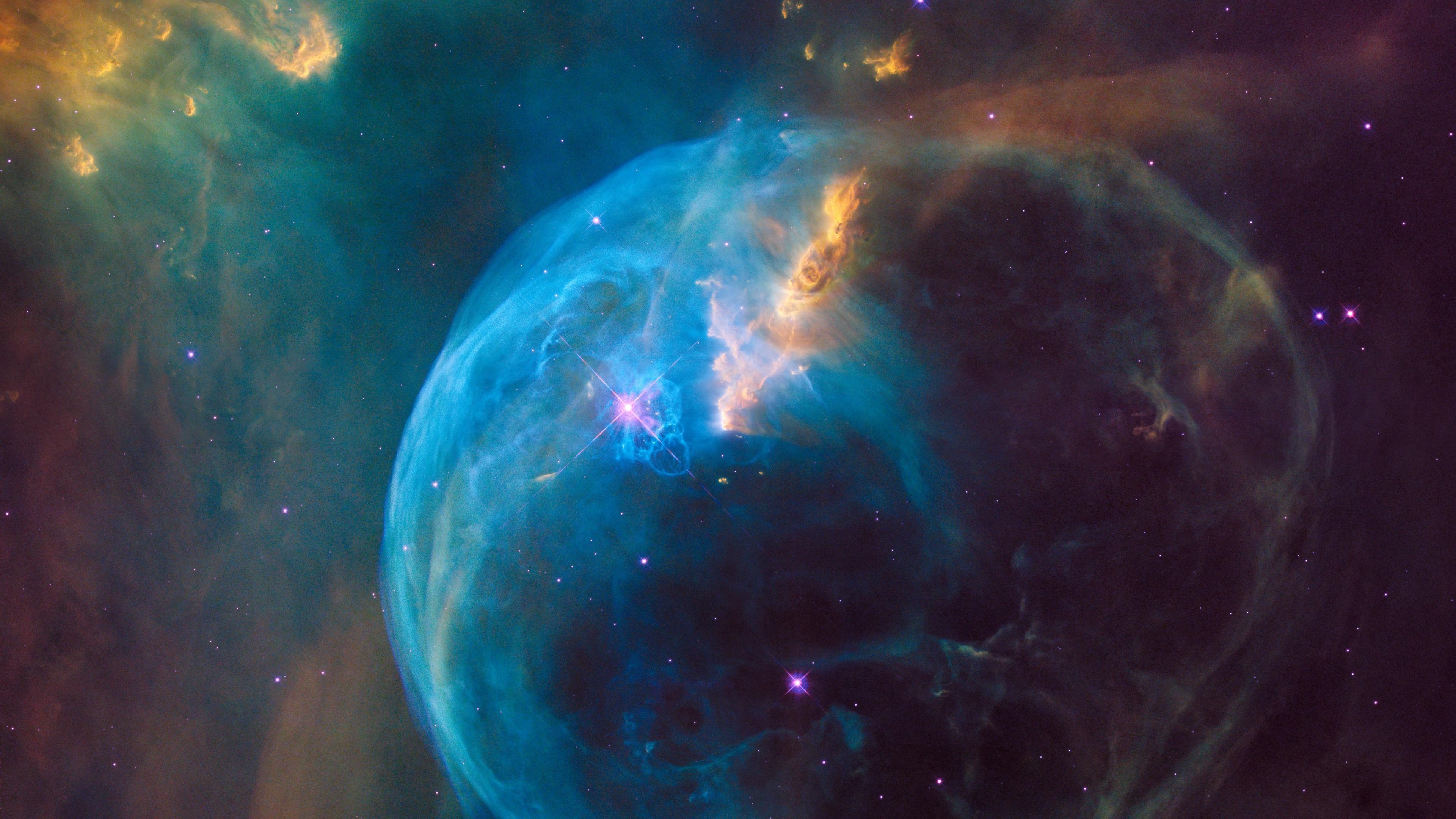 Wallpaper Galaxy Nebula Stars Space NASA 3840x2160 UHD 4K