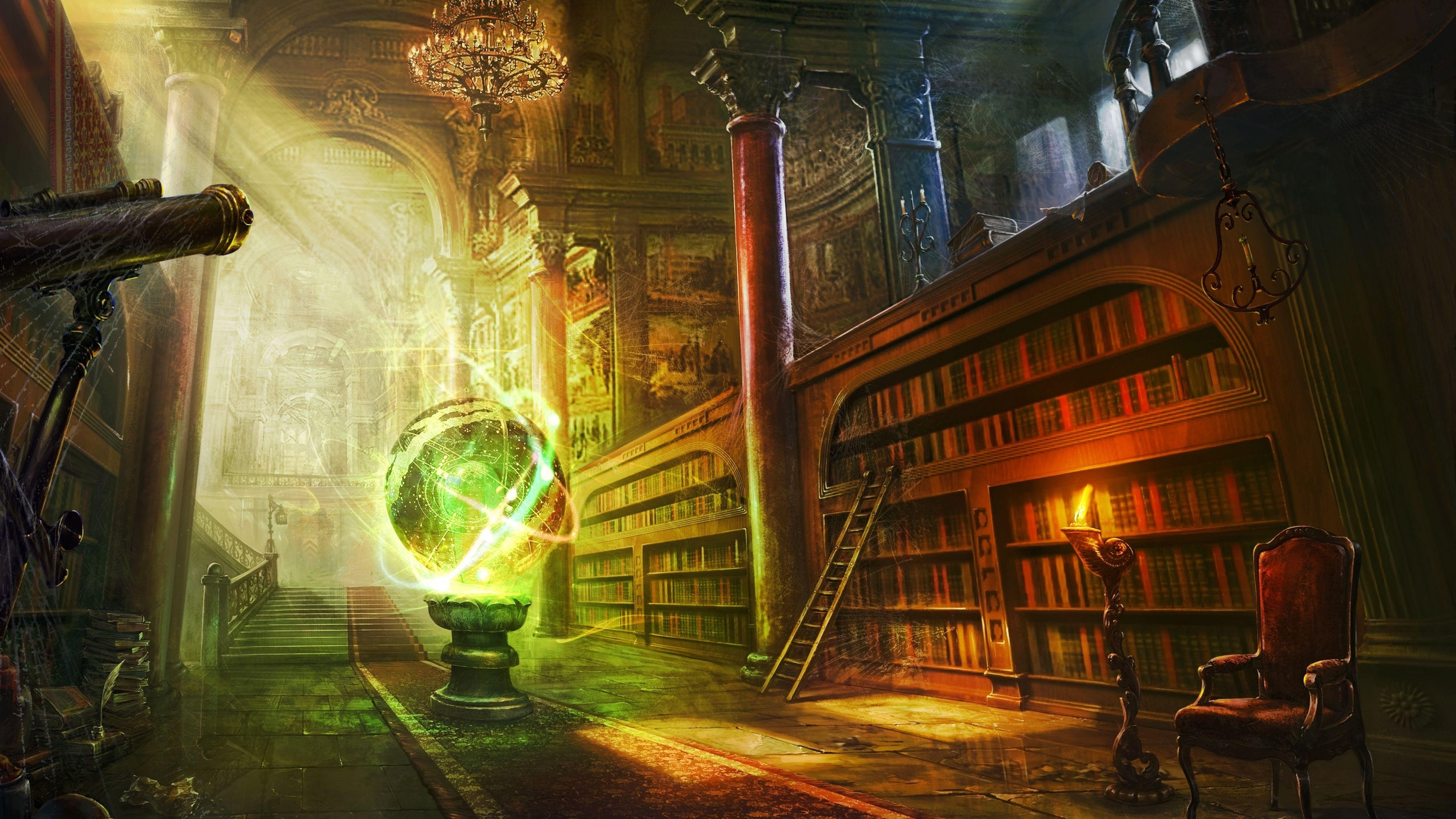 Rascunho do Spectro Magic-ball-library-books_3840x2160