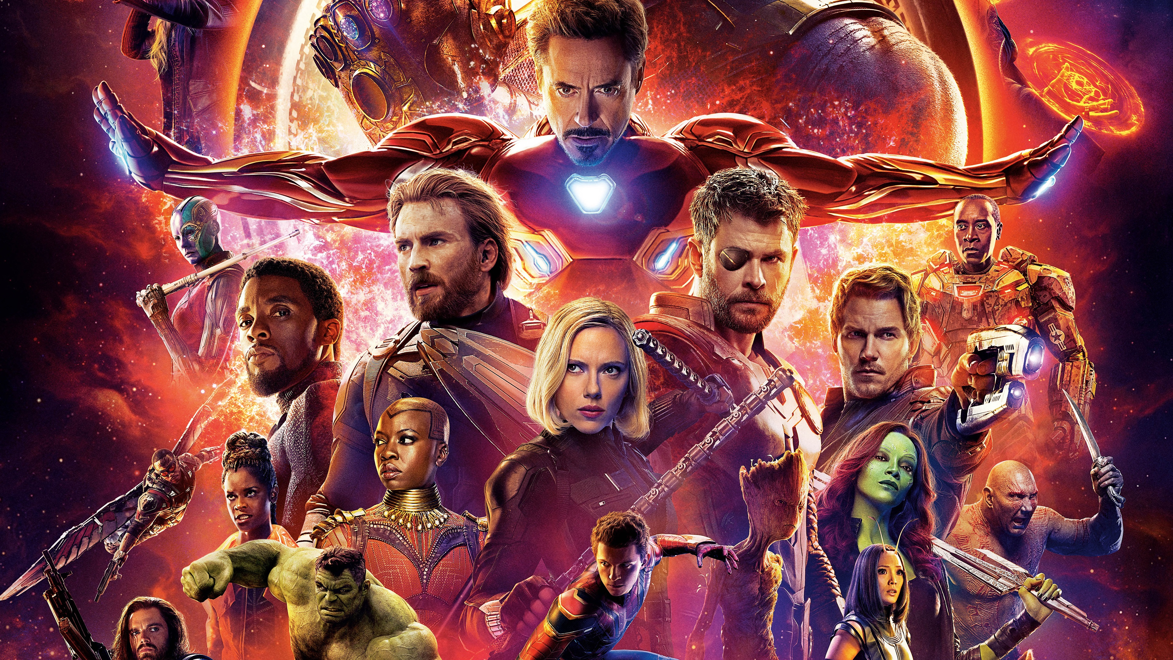 Wallpaper Superheroes Avengers Infinity War 2018 3840x2160 Uhd 4k