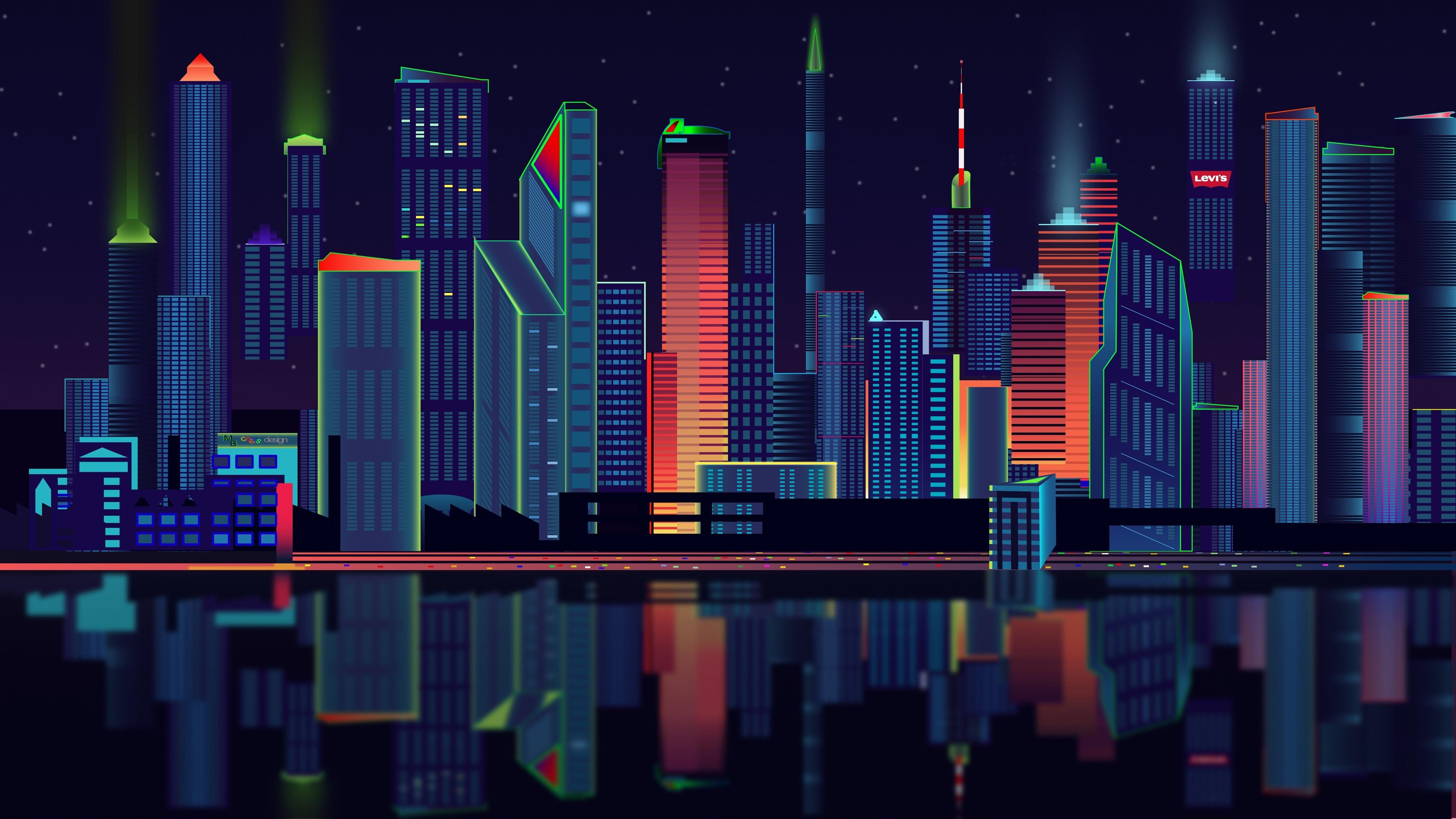 Fondos De Pantalla Diseño Vectorial Ciudad Rascacielos
