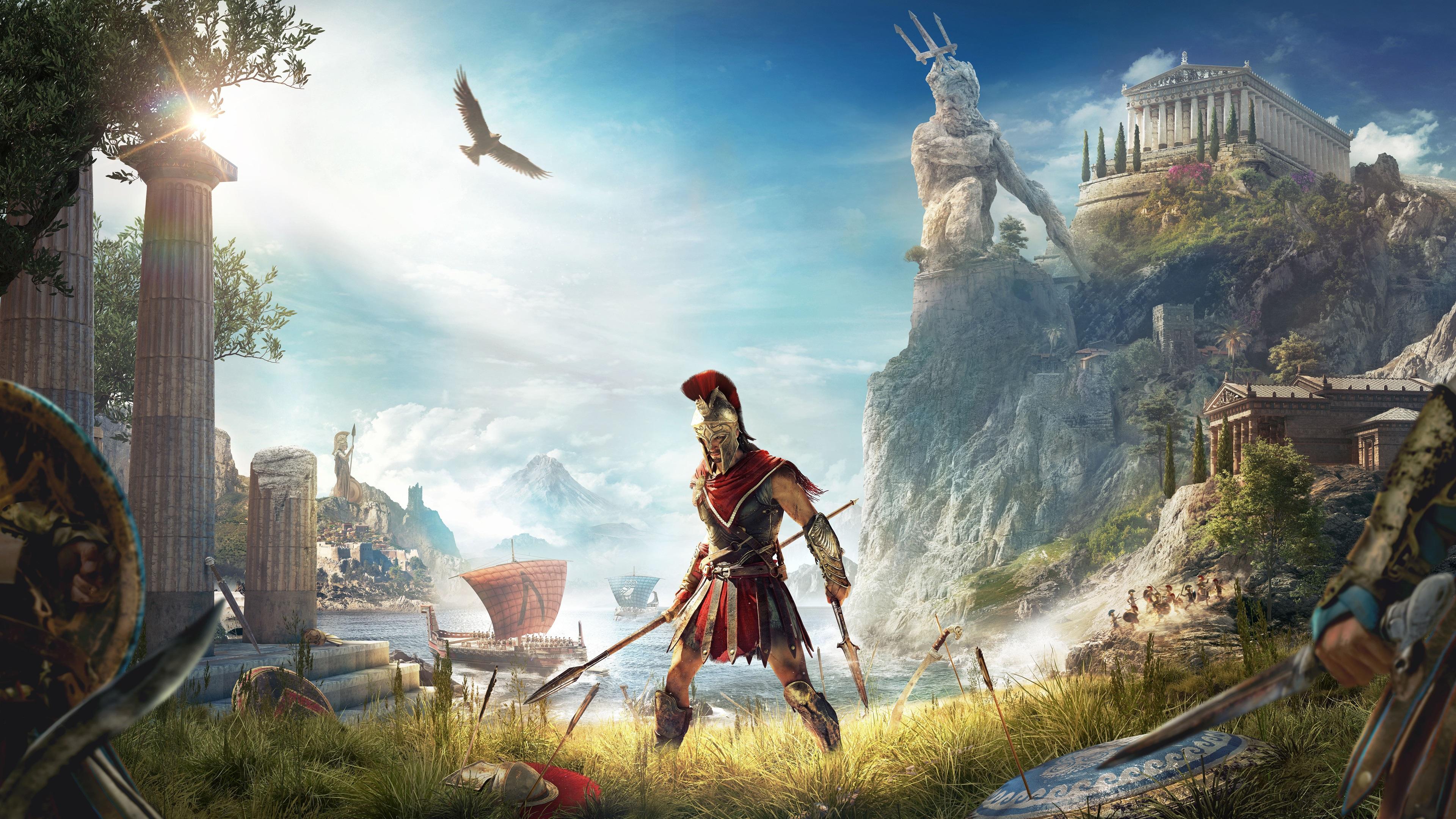 Wallpaper Assassin's Creed: Odyssey, E3 2018 3840x2160 UHD